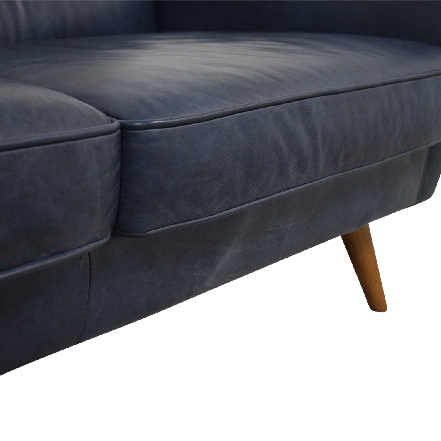 West Elm Denmark Navy Loveseat sale