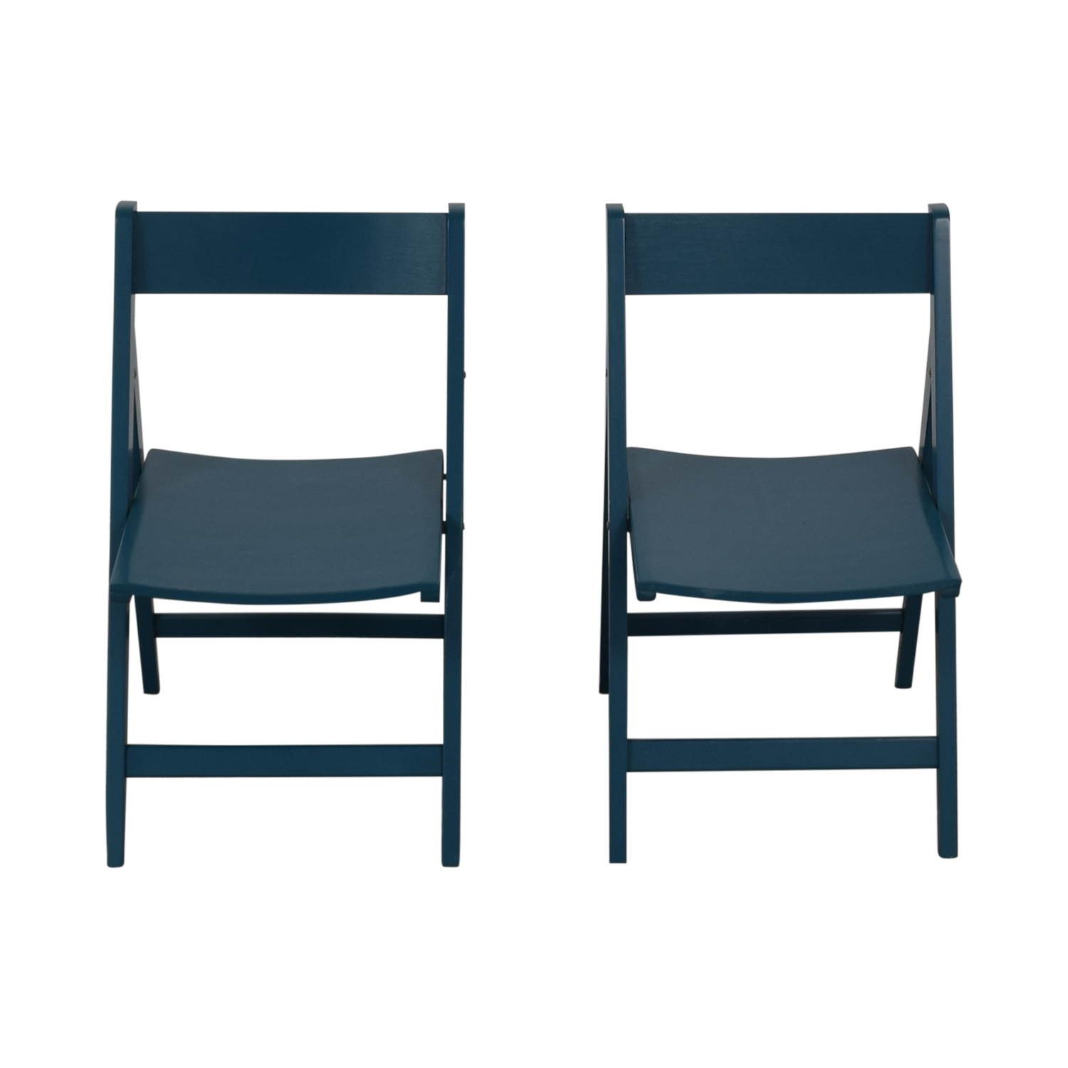 Blue Folding Chairs Turquoise