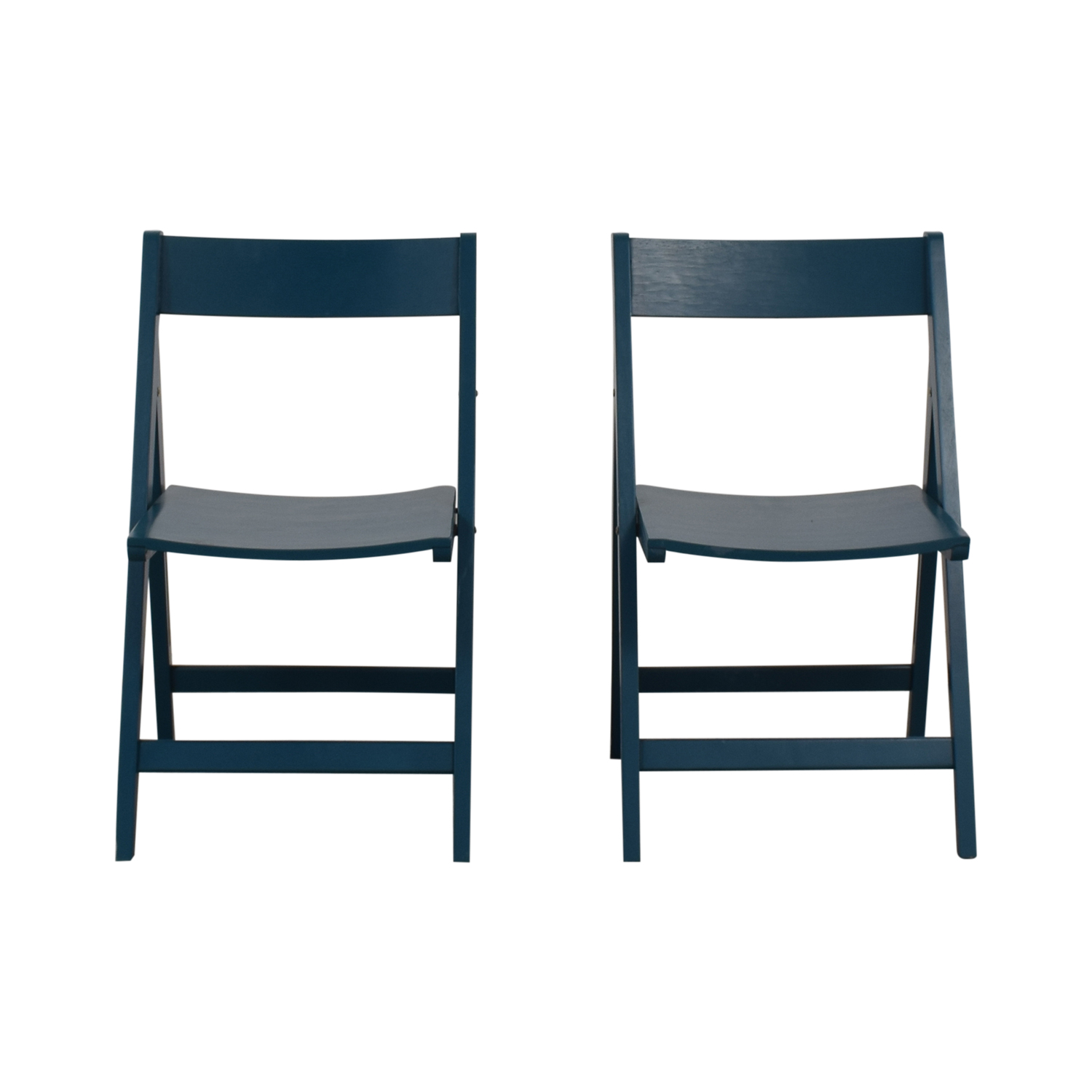 Blue Folding Chairs / Accent Chairs