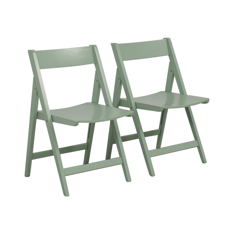 Mint Green Folding Chairs