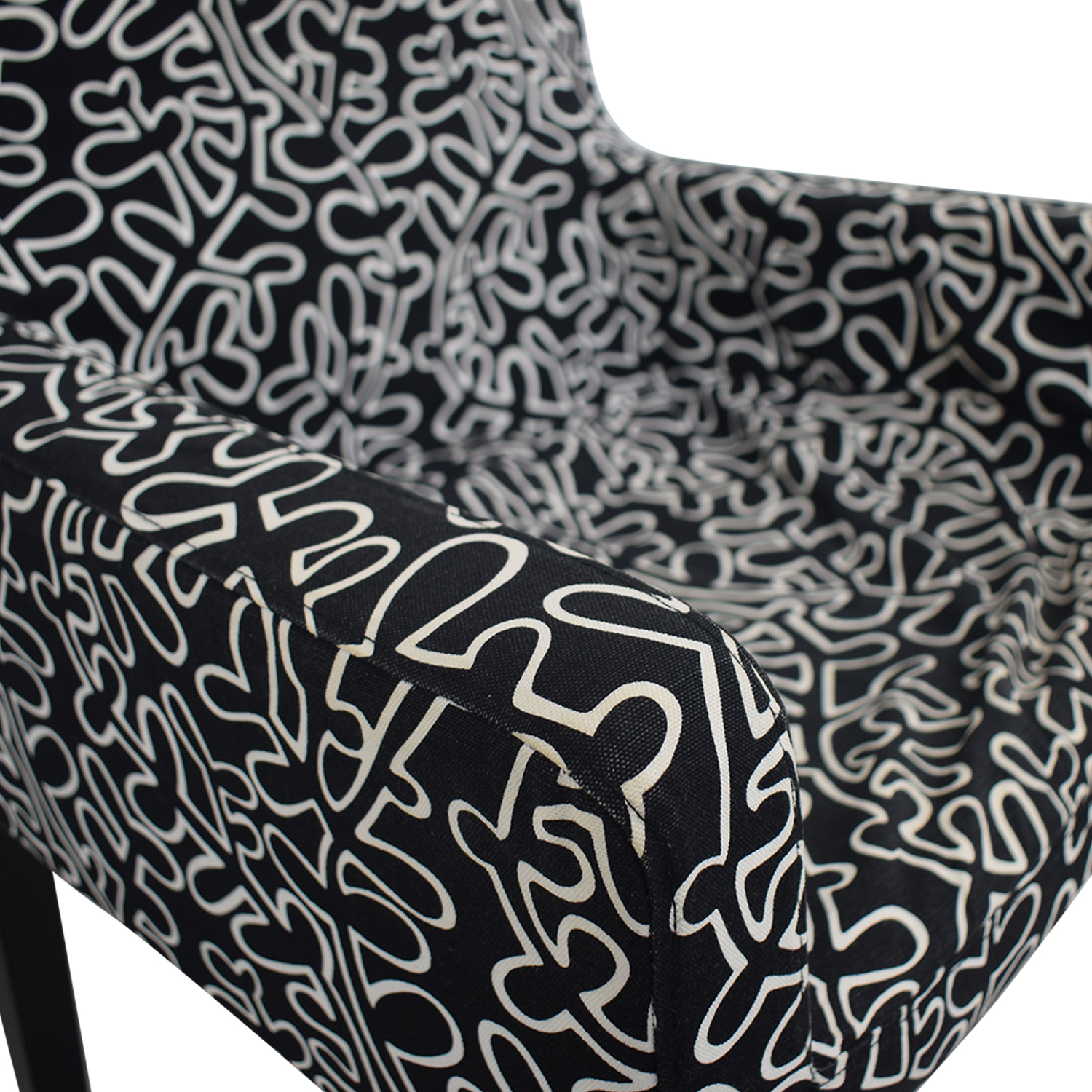 Black and White Print Chair used