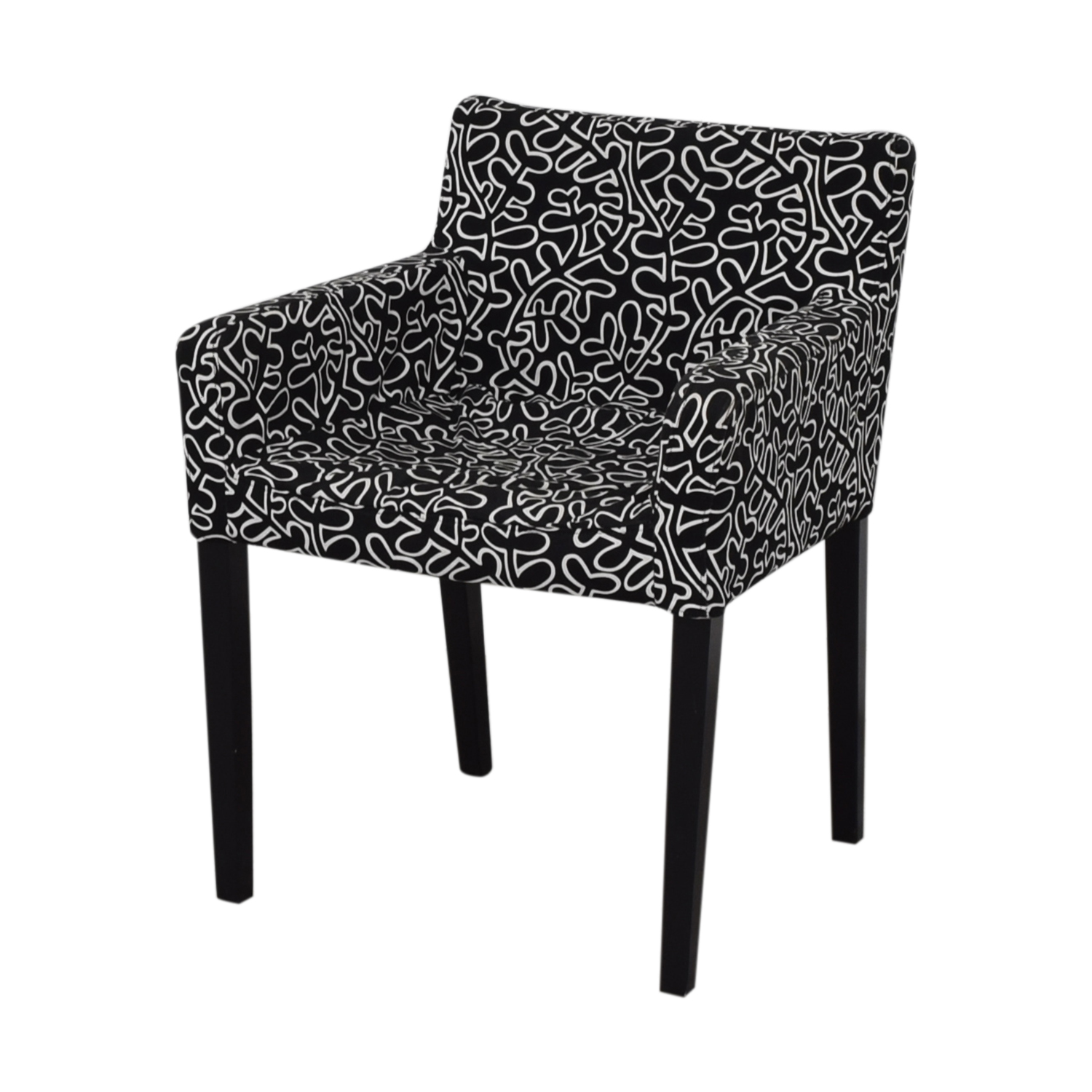 Black and White Print Chair second hand