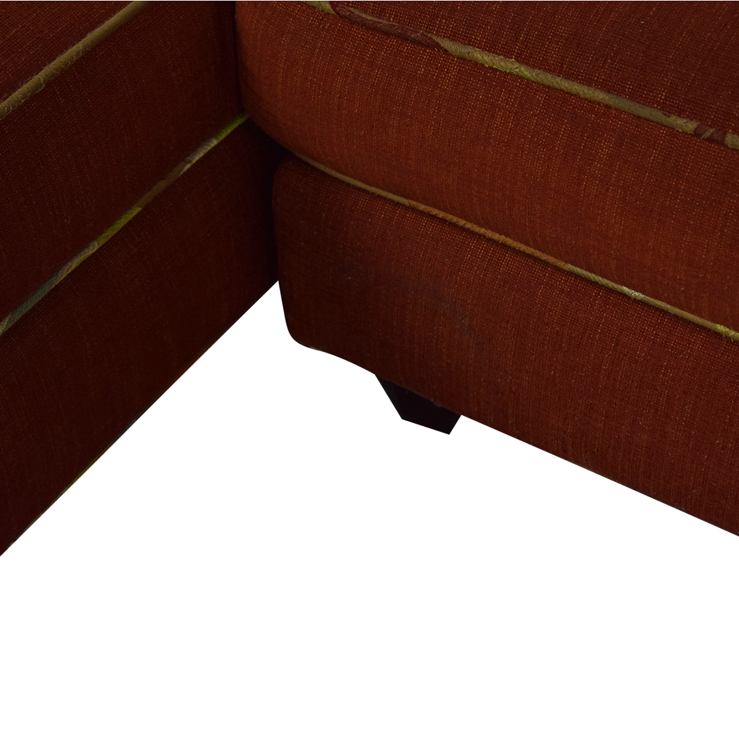 Red Sectional With Chaise and Floral Pillows price