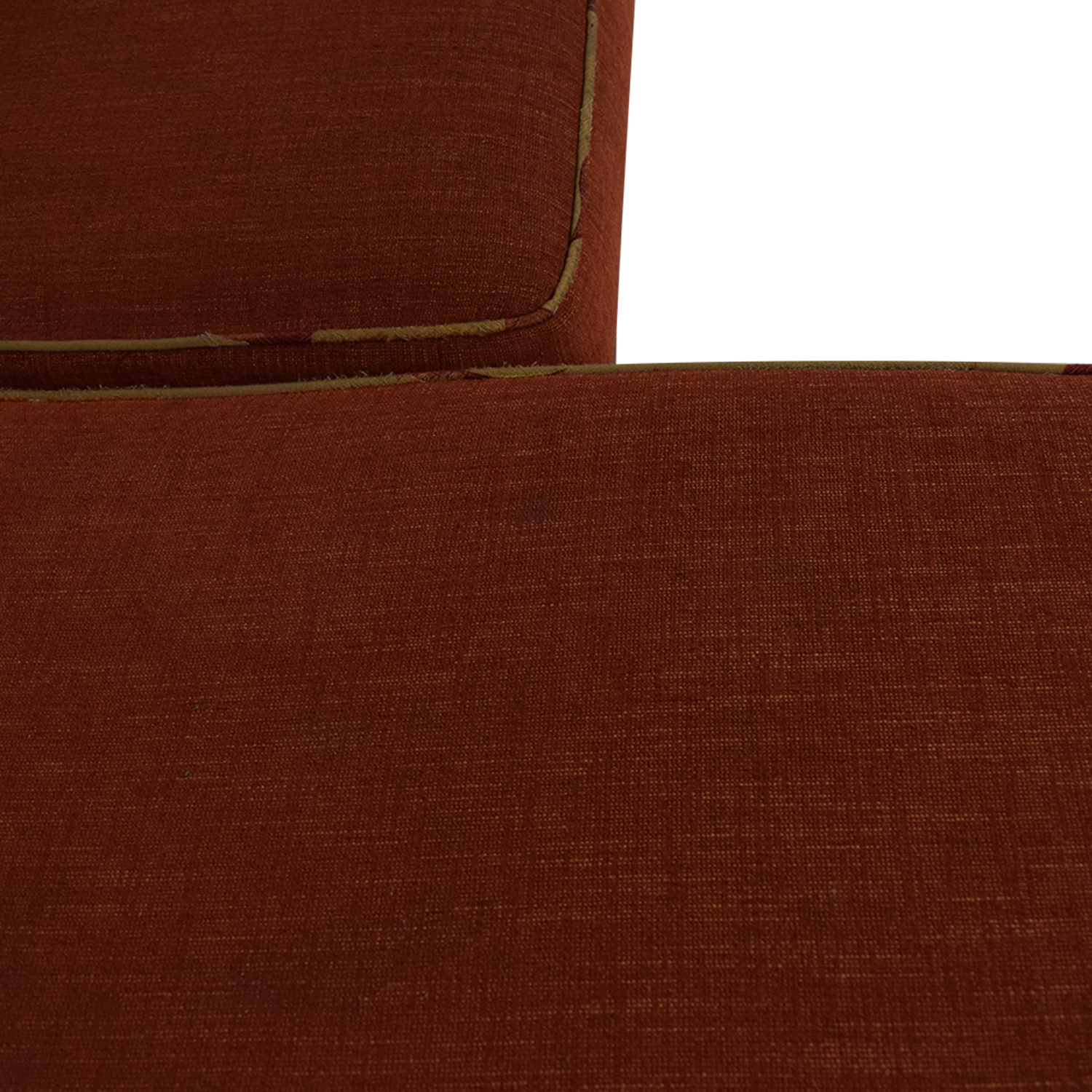 buy Red Sectional With Chaise and Floral Pillows