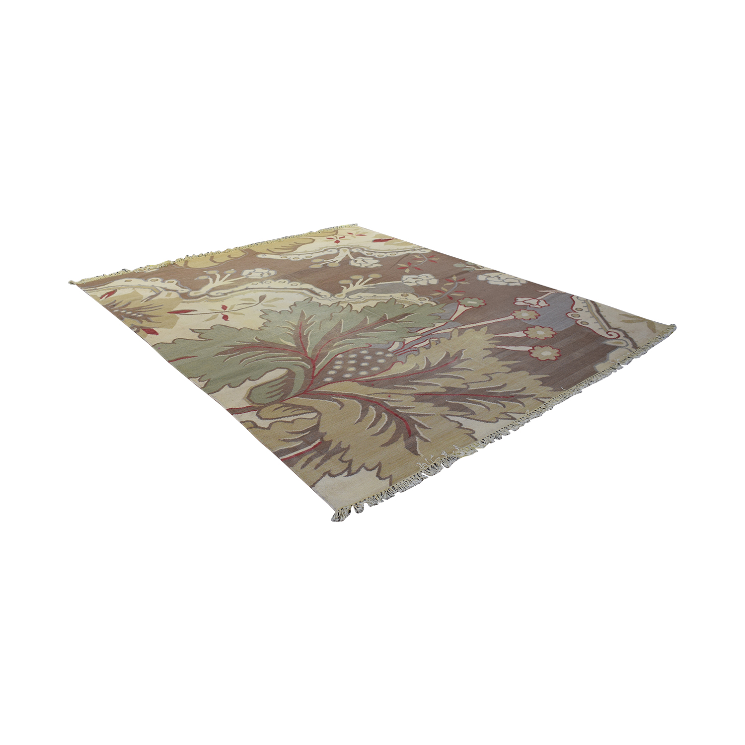 Floral Patterned Woven Rug used