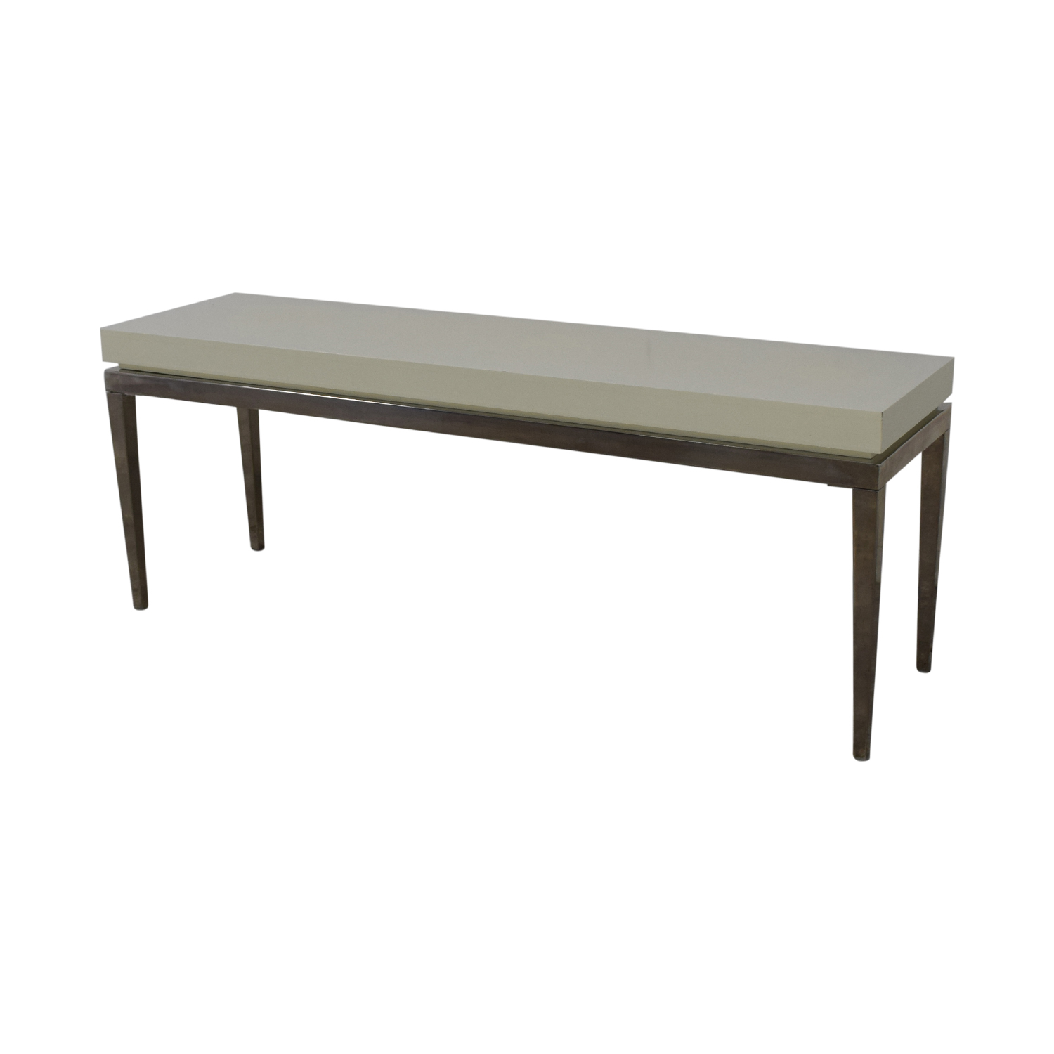 Jonathan Adler Jonathan Adler White and Silver Console Table nyc