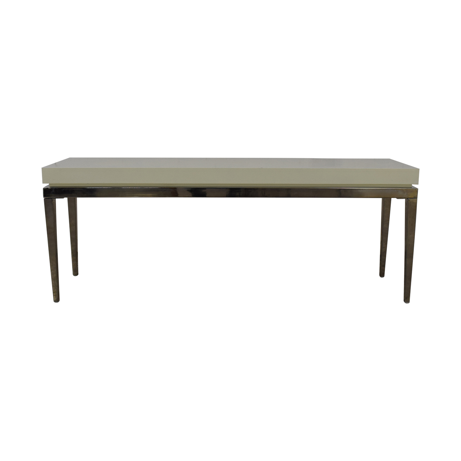 shop Jonathan Adler White and Silver Console Table Jonathan Adler Tables