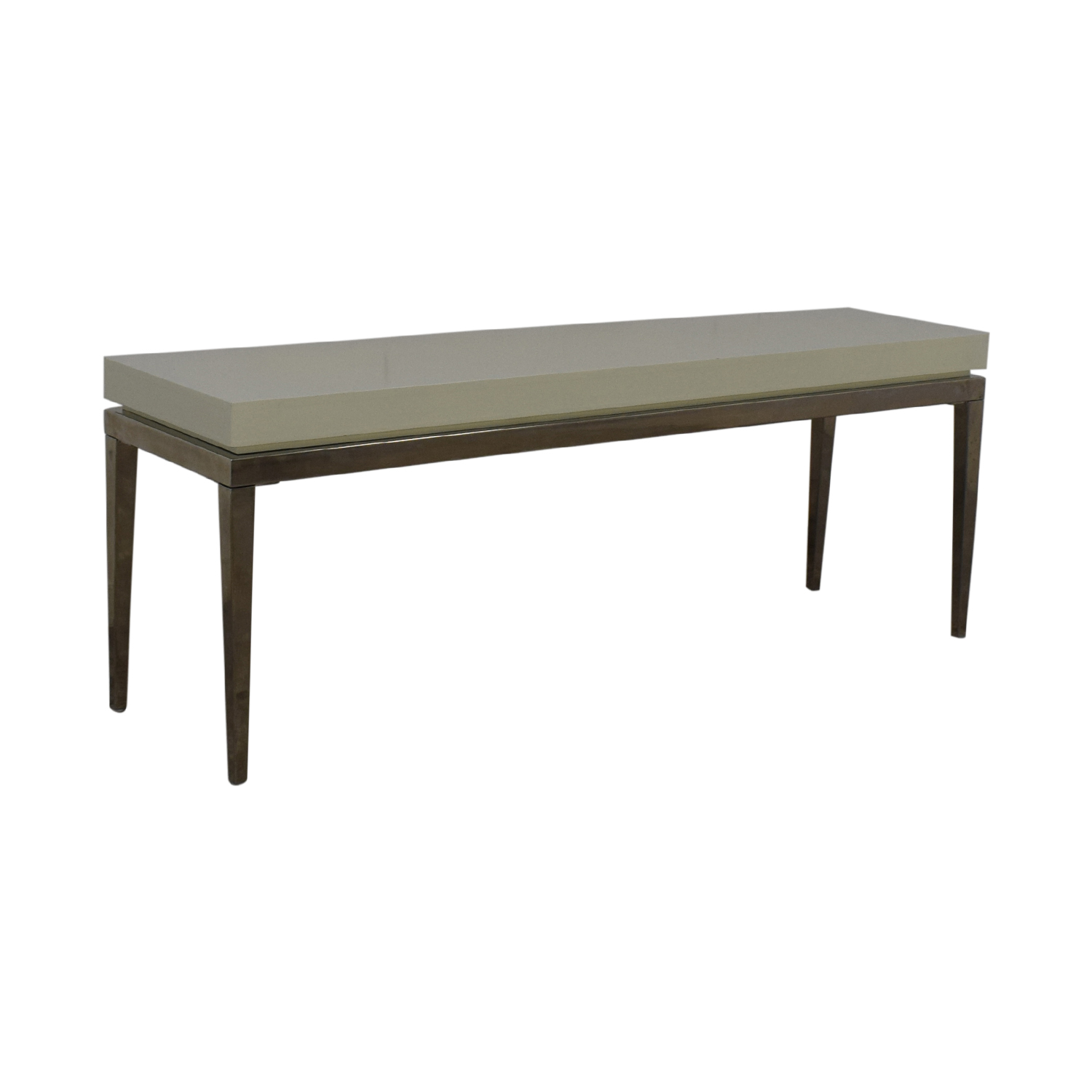 Jonathan Adler White and Silver Console Table sale