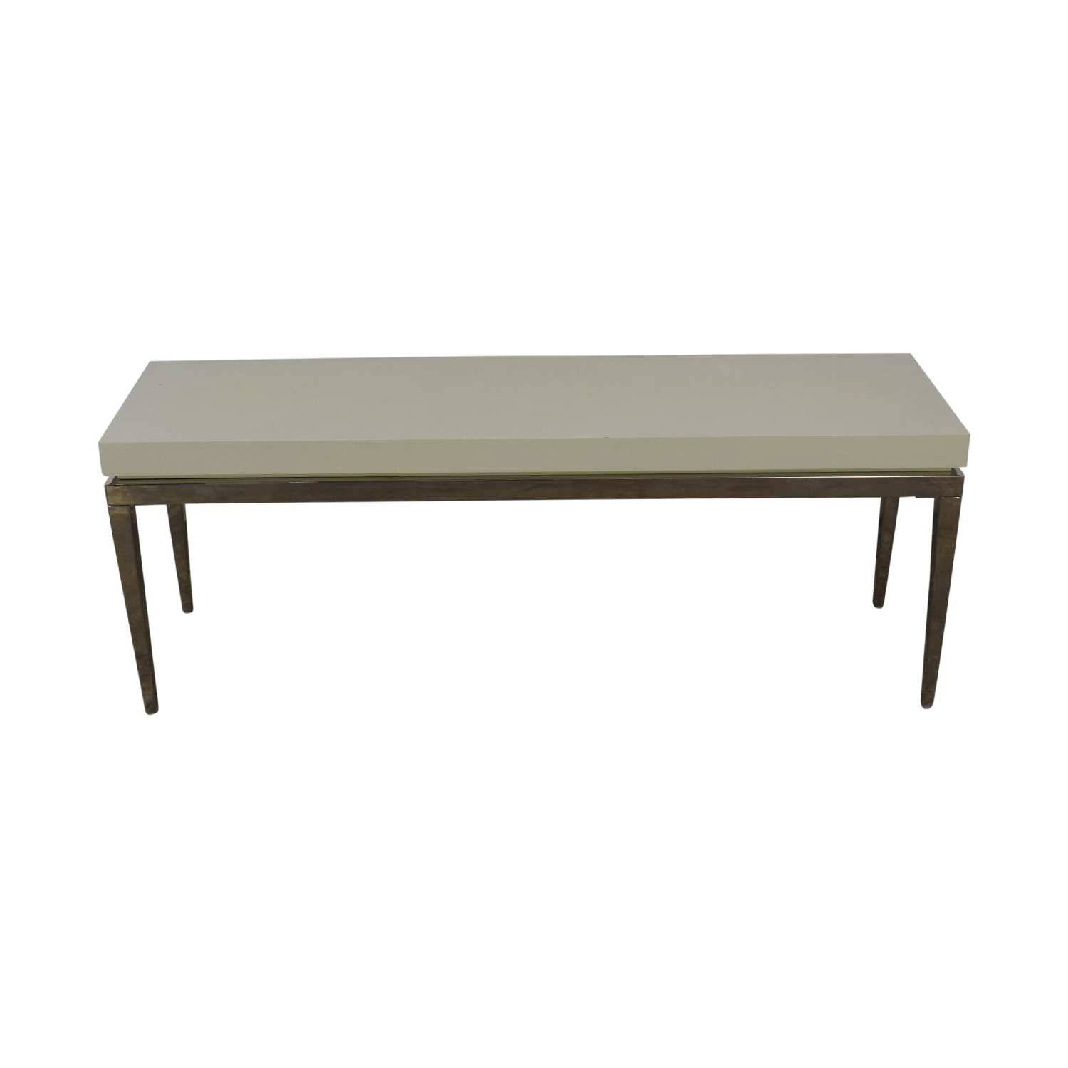 shop Jonathan Adler Jonathan Adler White and Silver Console Table online