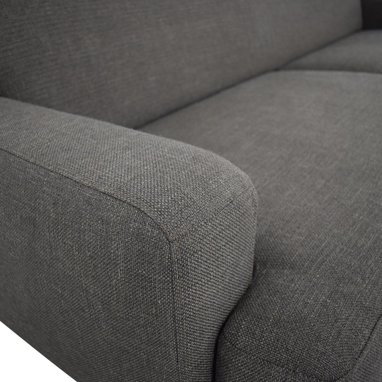 CB2 Two Cushion Sofa sale