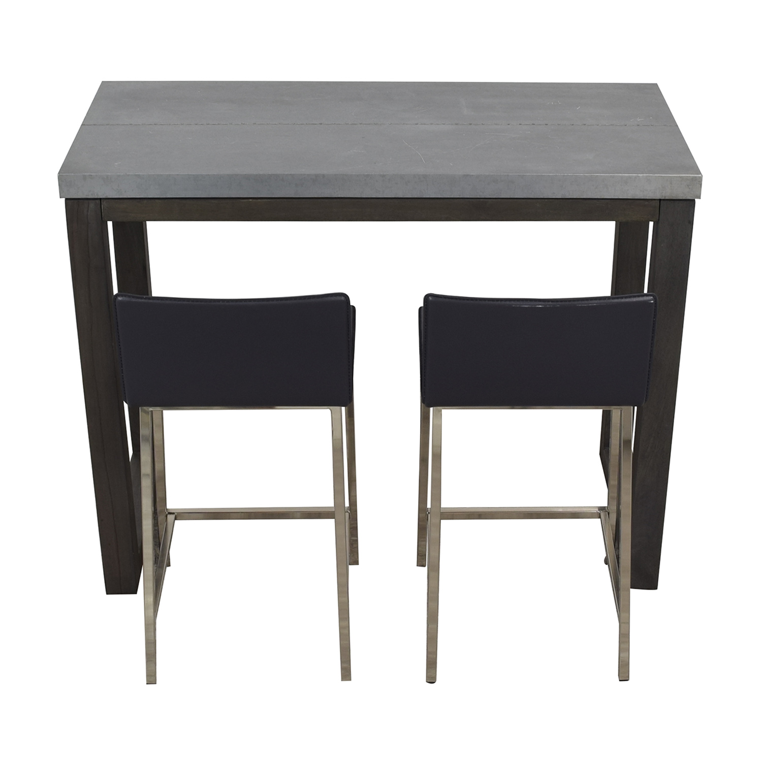 CB2 CB2 Stern Counter Table with Two Stools Tables