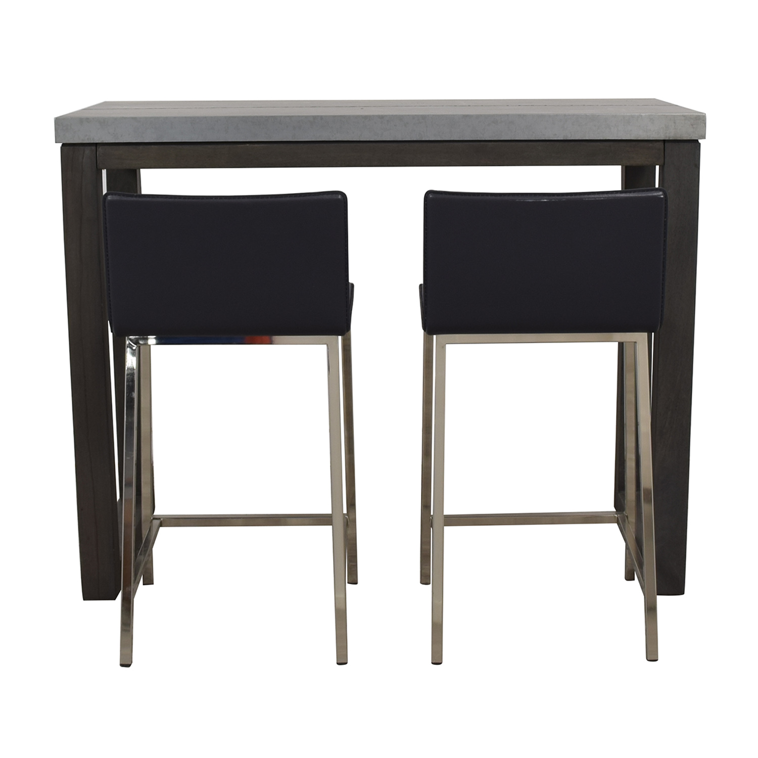 CB2 CB2 Stern Counter Table with Two Stools