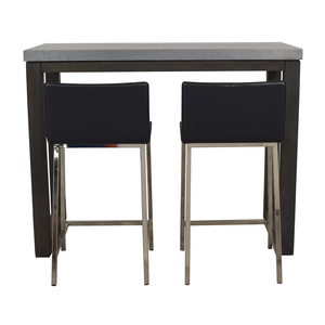 shop CB2 CB2 Stern Counter Table with Two Stools online