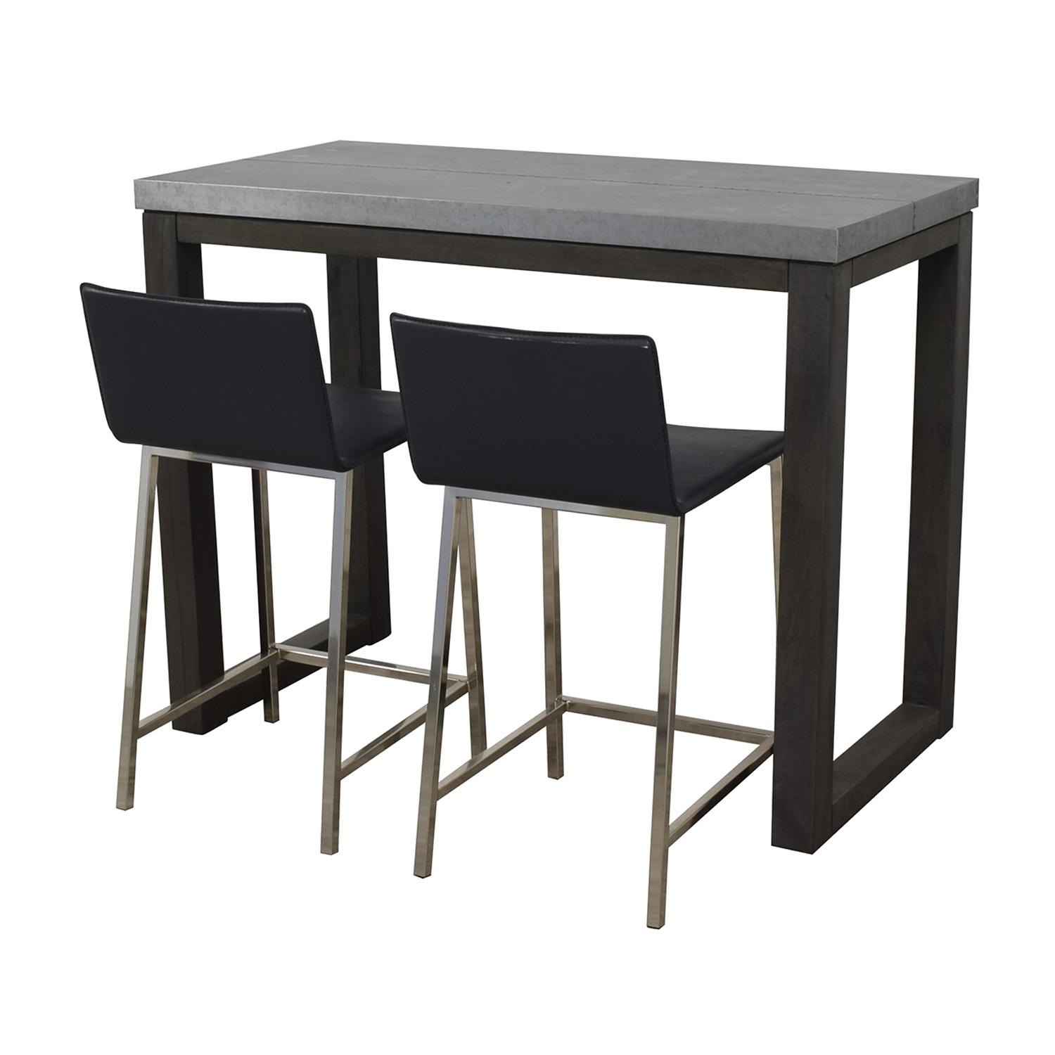 shop CB2 Stern Counter Table with Two Stools CB2