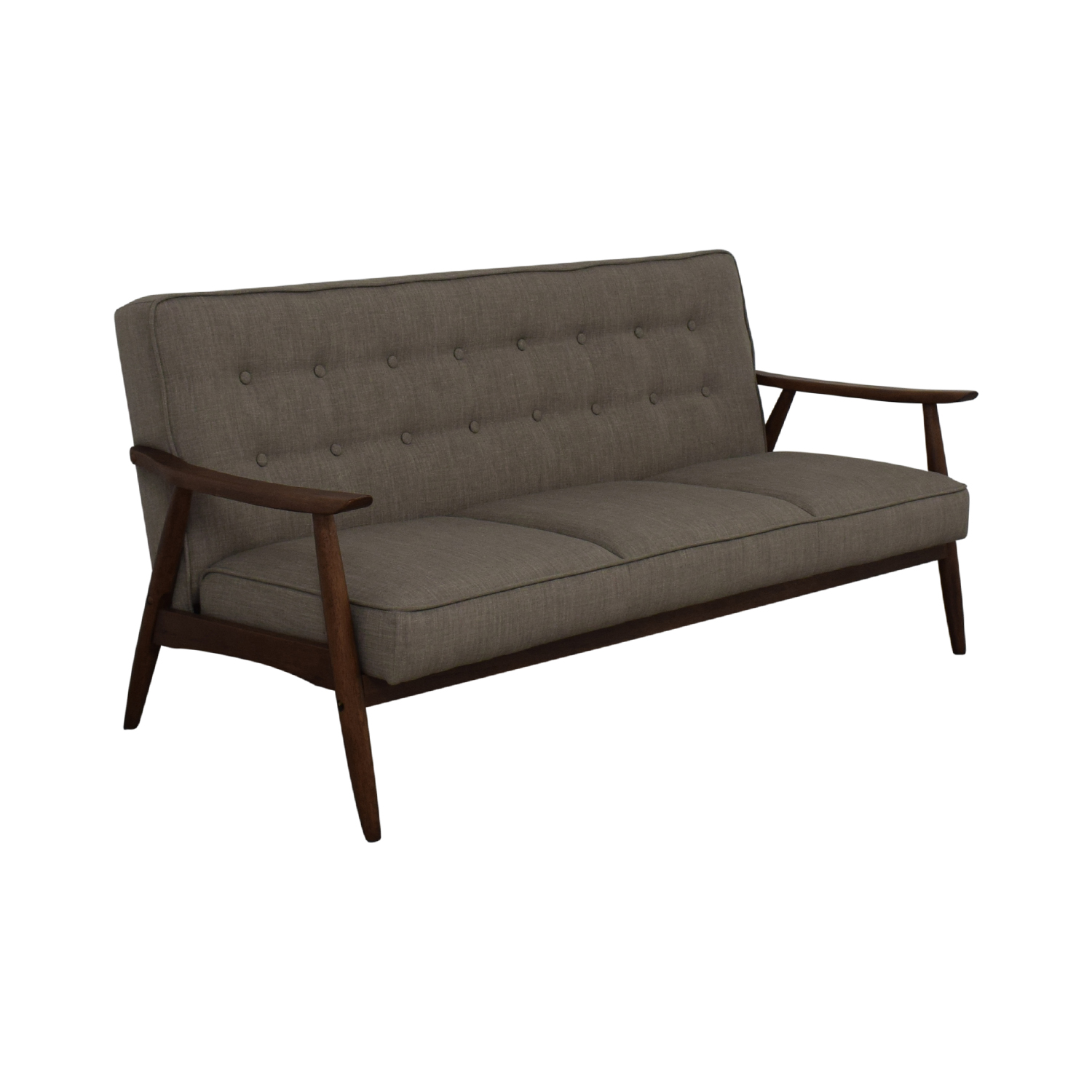 shop Urban Outfitters Grey Wyatt Sofa Urban Outfitters Classic Sofas