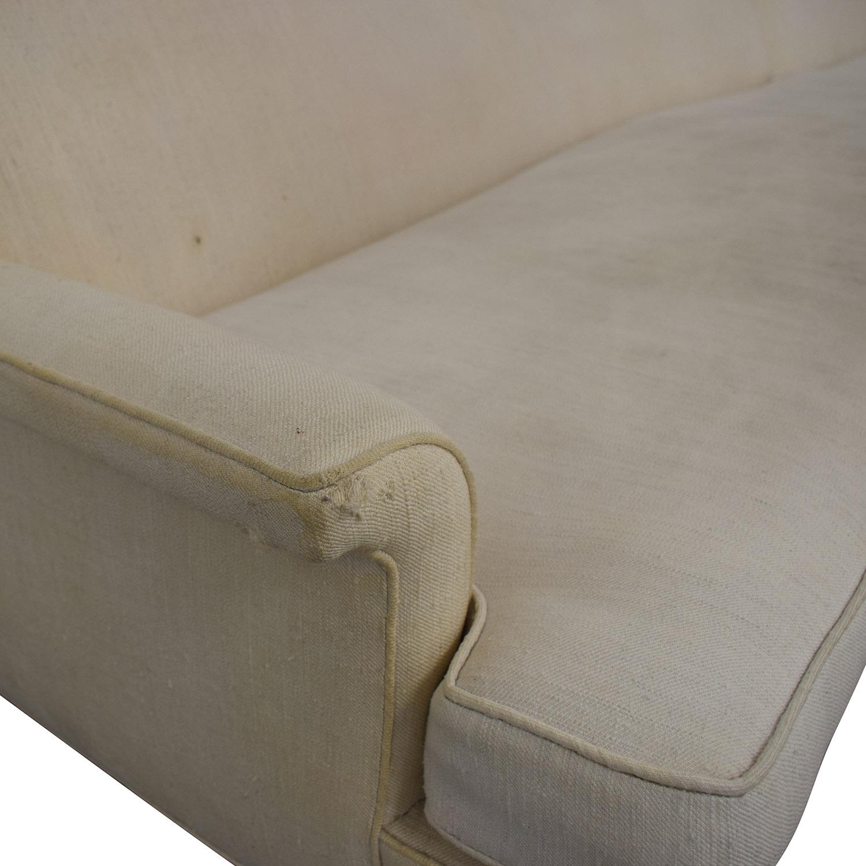 buy Vintage Linen Sofa