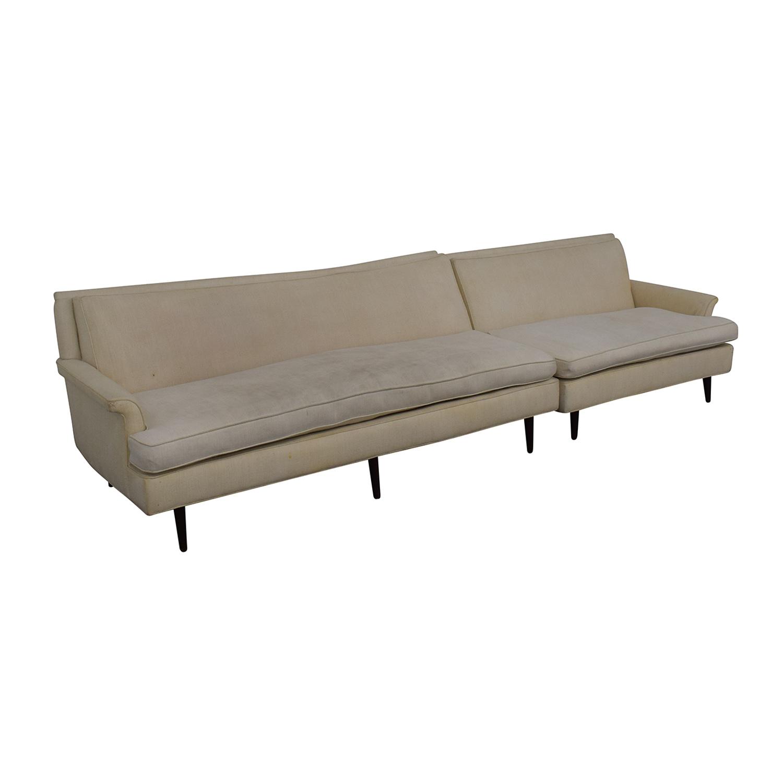 shop Vintage Linen Sofa  Sofas