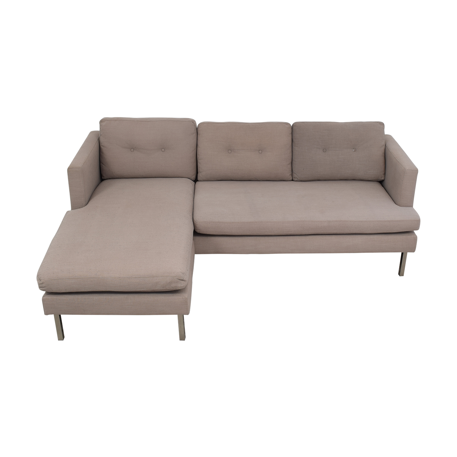 West Elm Marco Two-Piece Sectional Sofa in Chenille Tweed West Elm