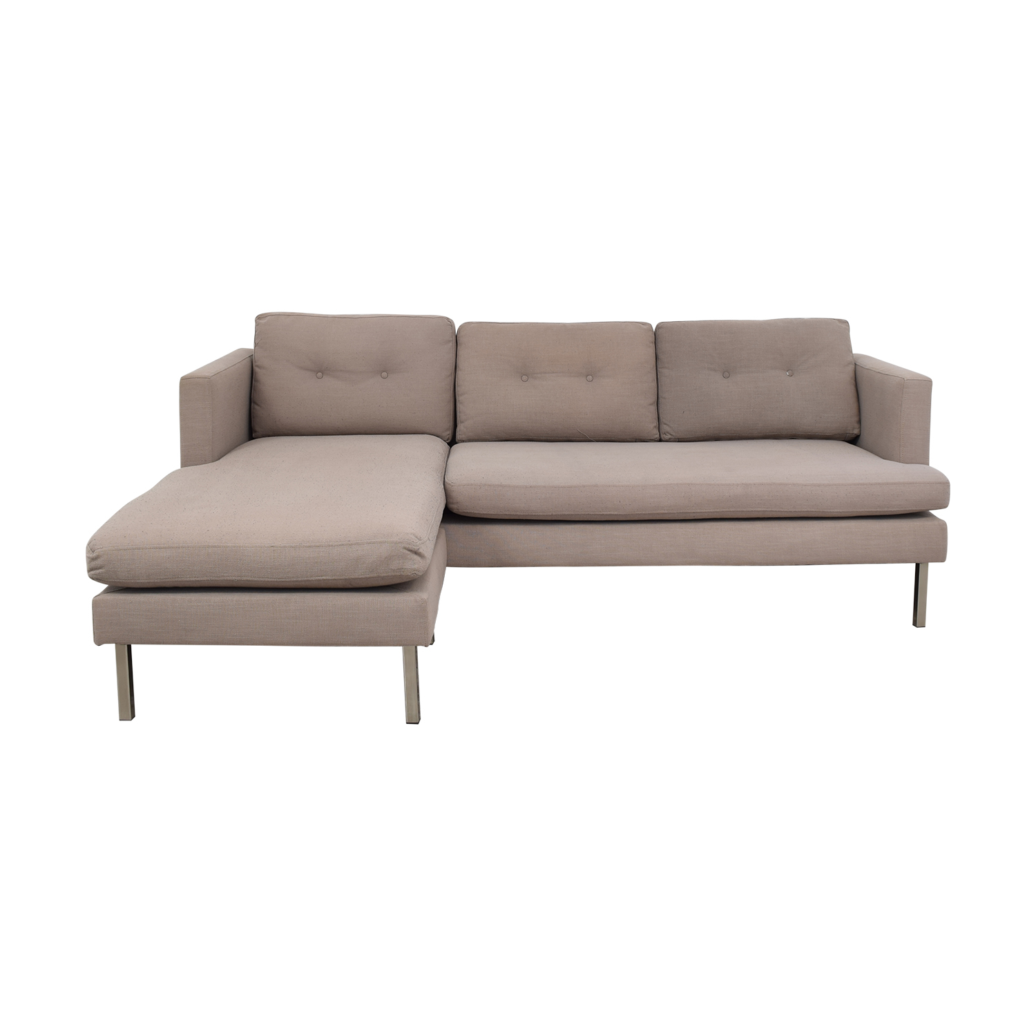 buy West Elm Marco Two-Piece Sectional Sofa in Chenille Tweed West Elm