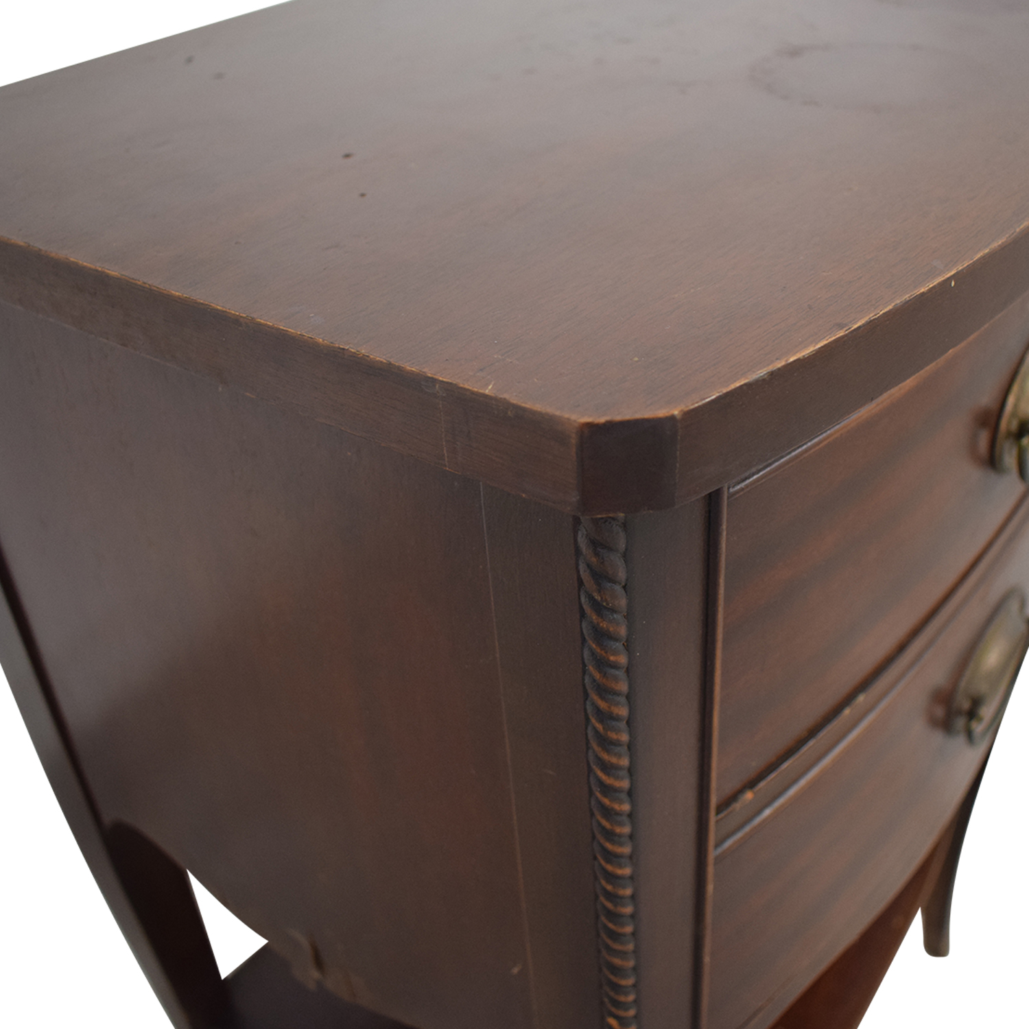 buy Brown Two Drawer End Table  Tables