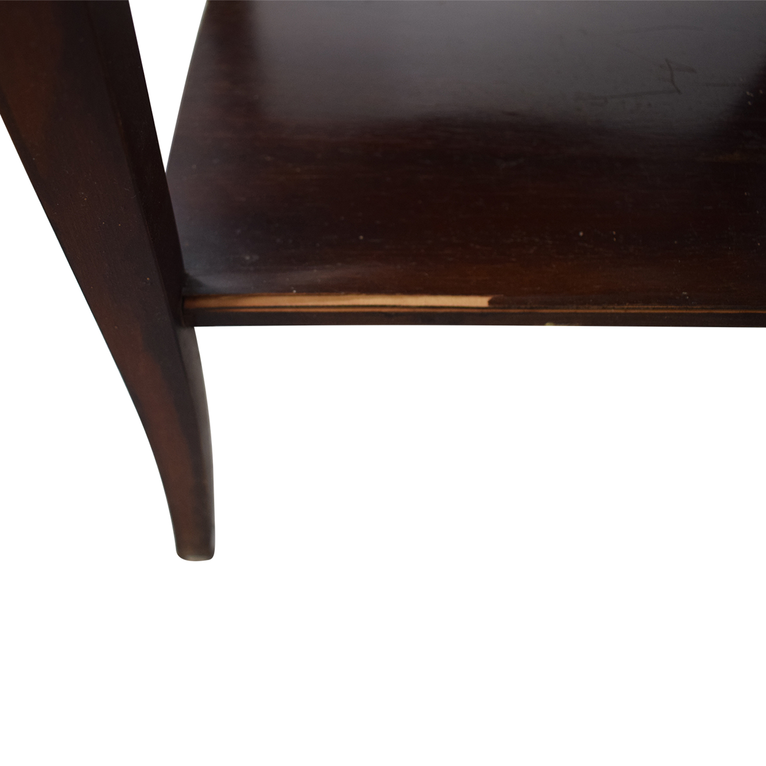 Brown Two Drawer End Table nyc