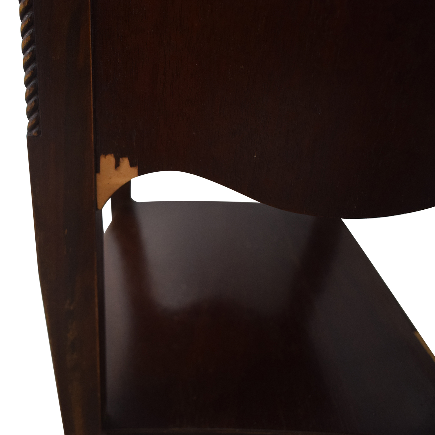 Brown Two Drawer End Table End Tables