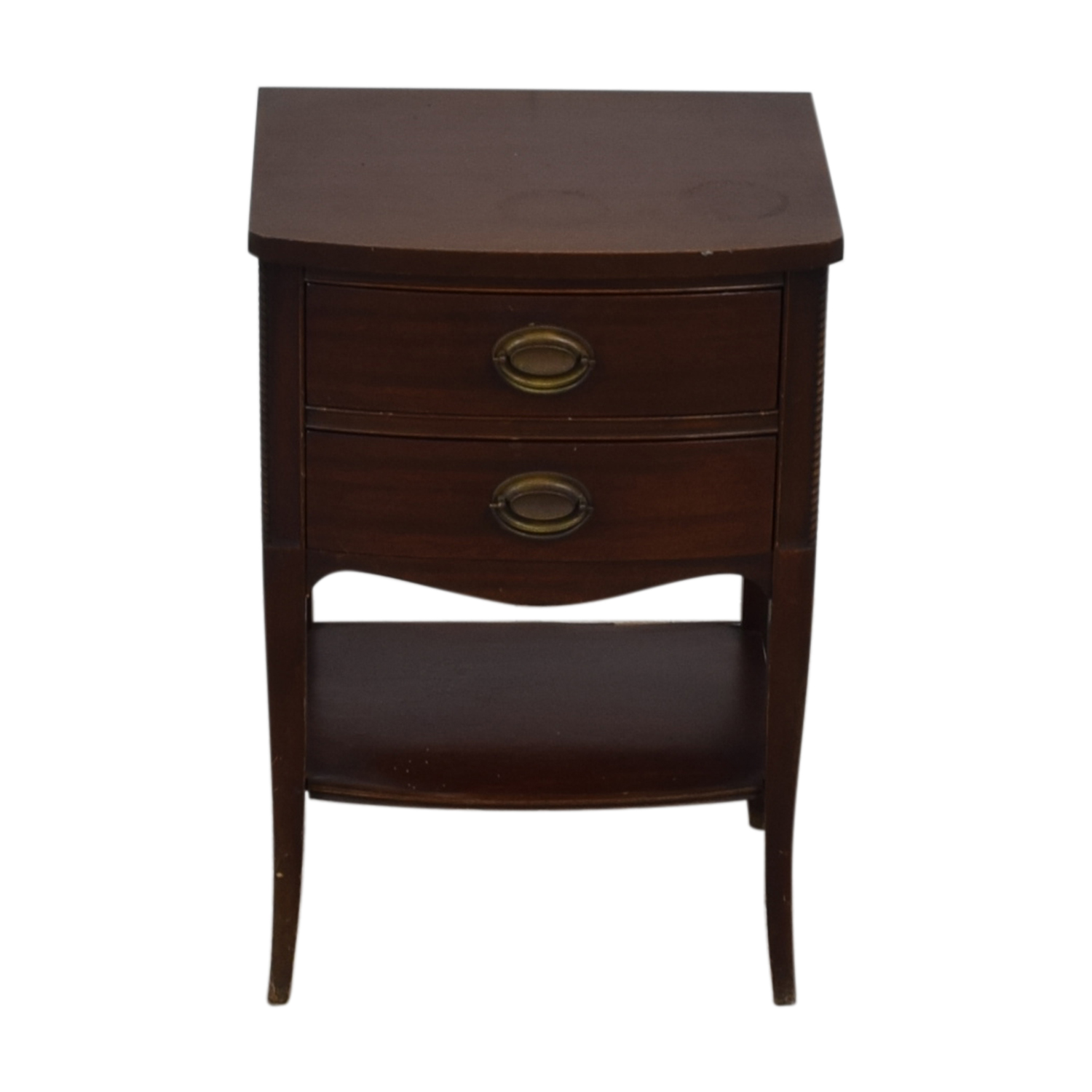 shop Brown Two Drawer End Table  Tables