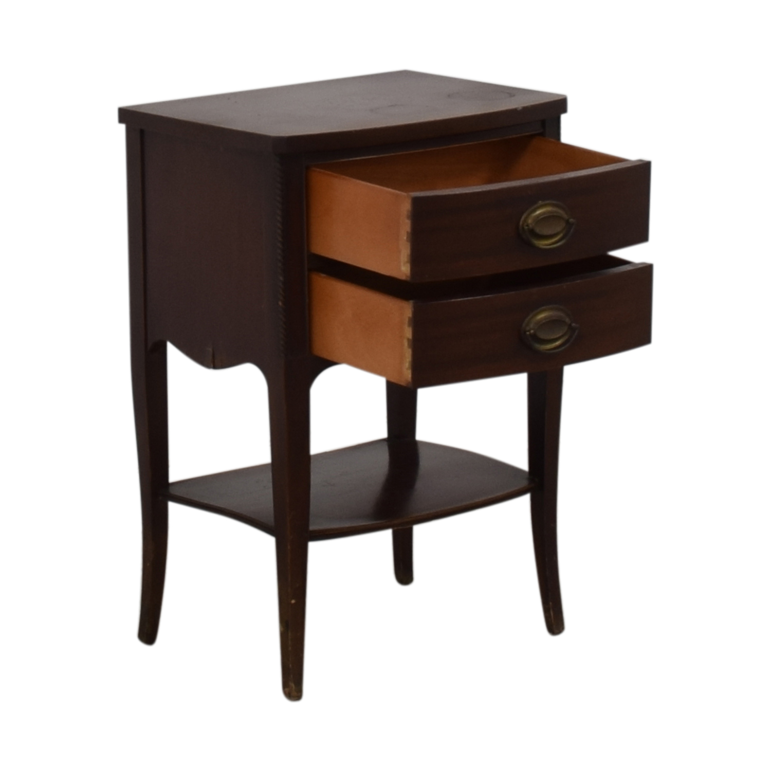 Brown Two Drawer End Table