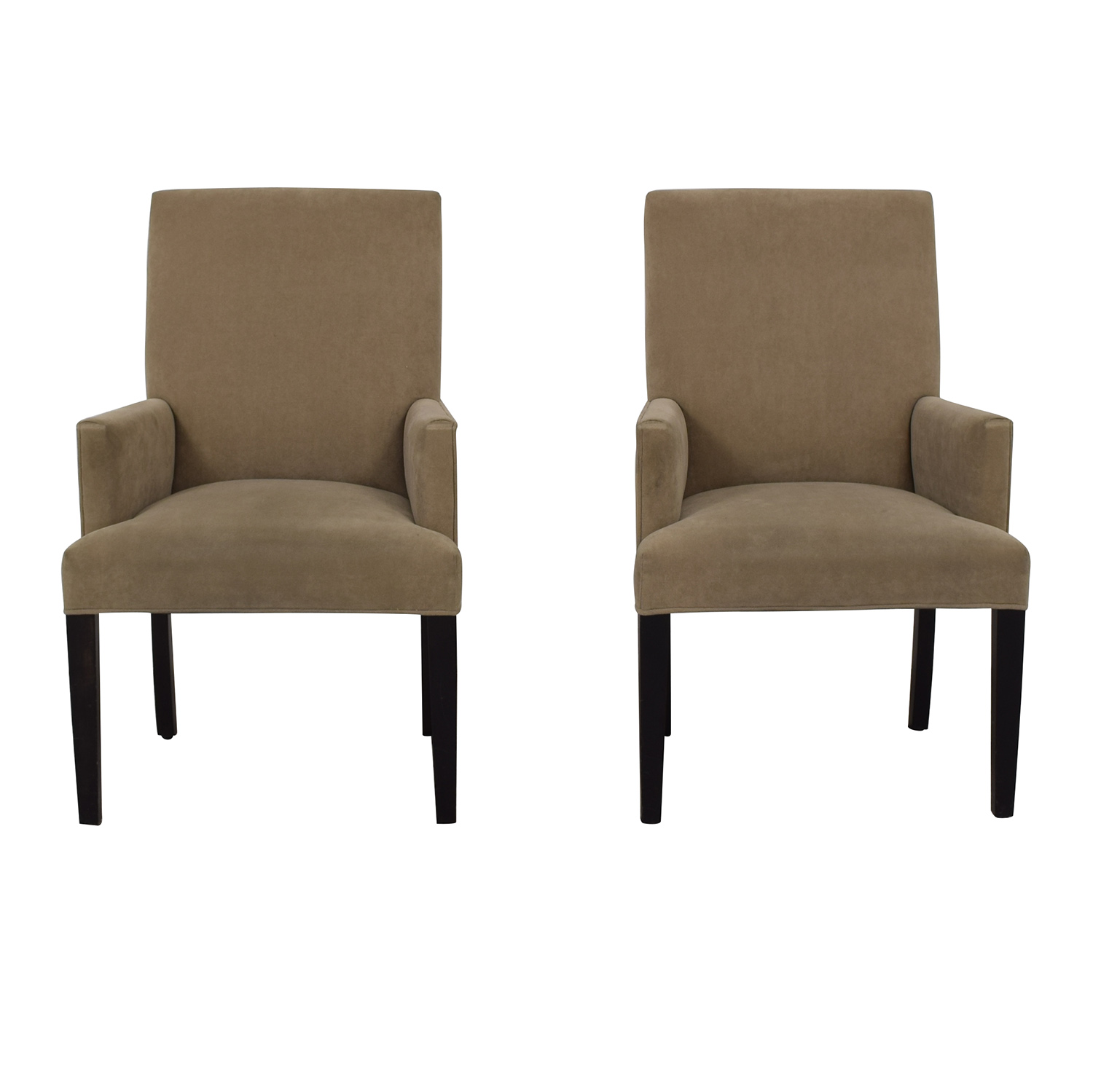 Crate & Barrel Tan Dining Chairs Crate & Barrel