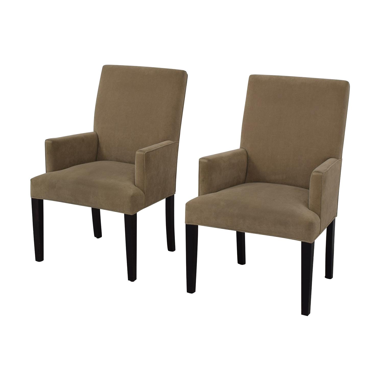 Crate & Barrel Crate & Barrel Tan Dining Chairs coupon