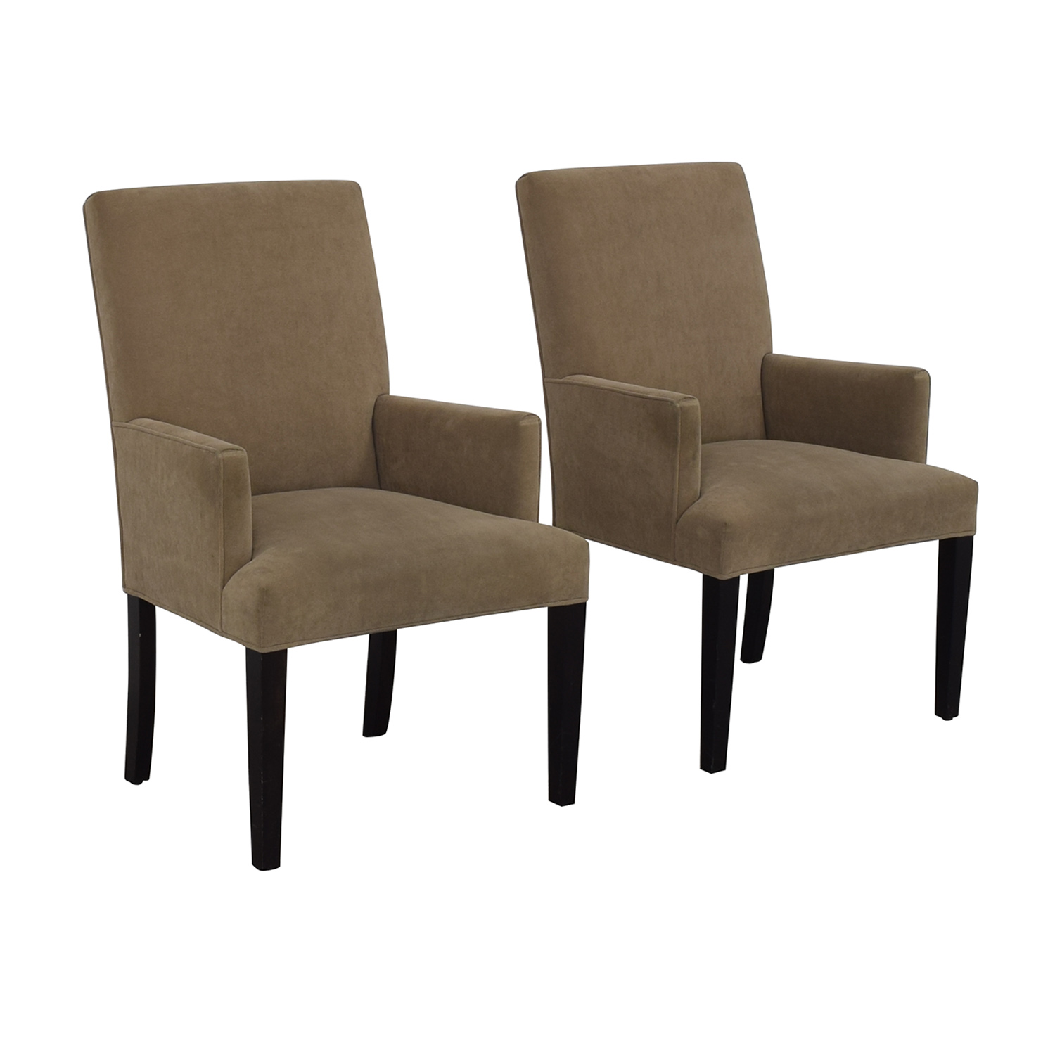 Crate & Barrel Crate & Barrel Tan Dining Chairs nyc