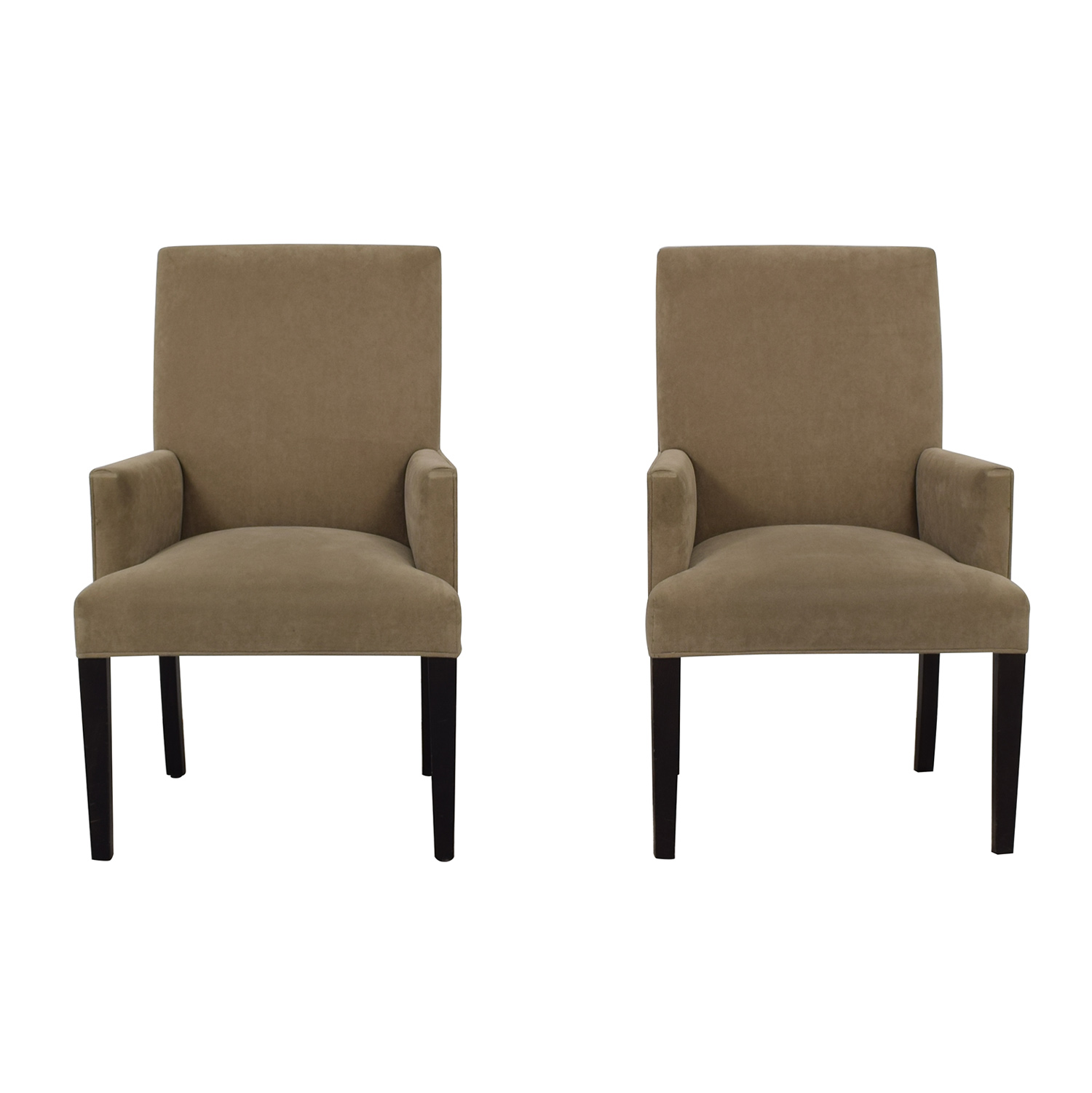 shop Crate & Barrel Tan Dining Chairs Crate & Barrel Chairs