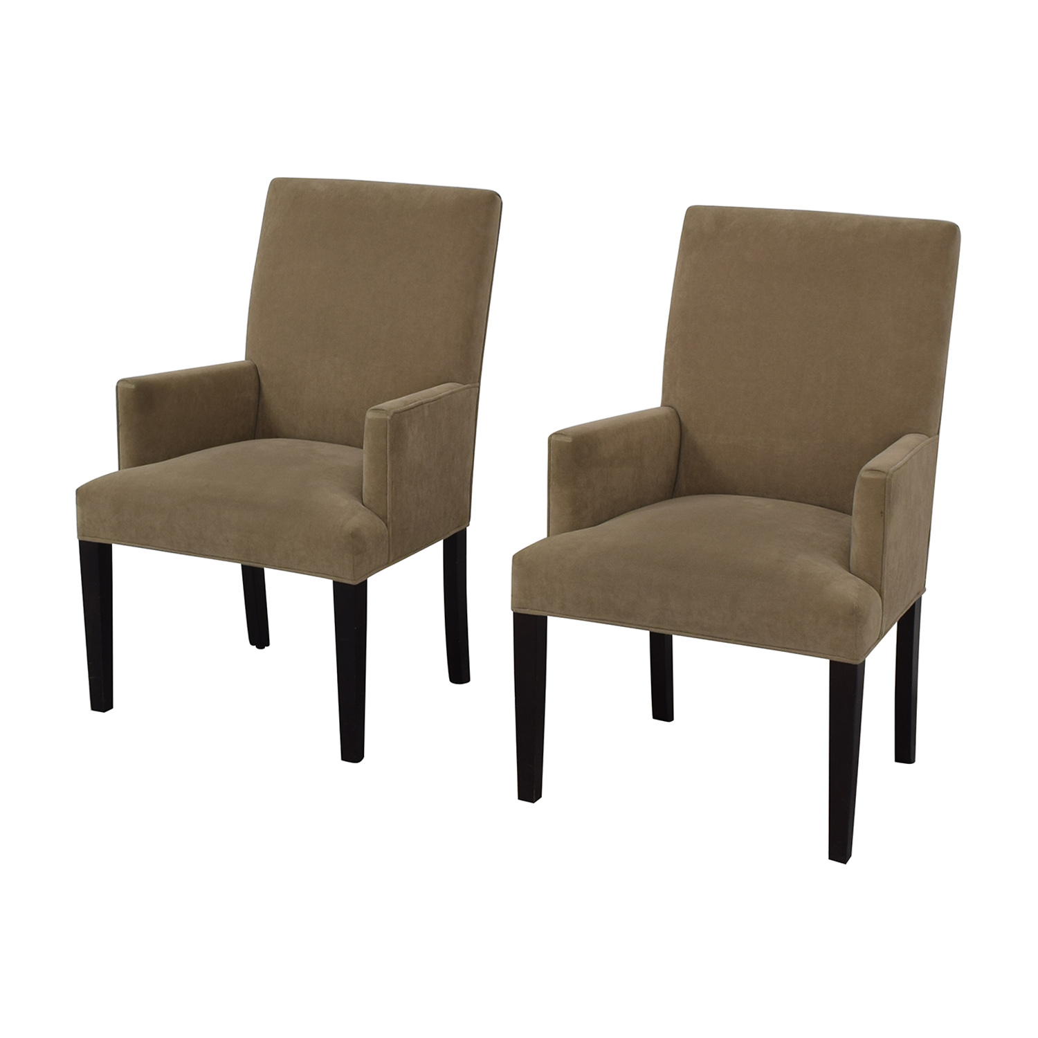 Crate & Barrel Crate & Barrel Tan Dining Chairs for sale
