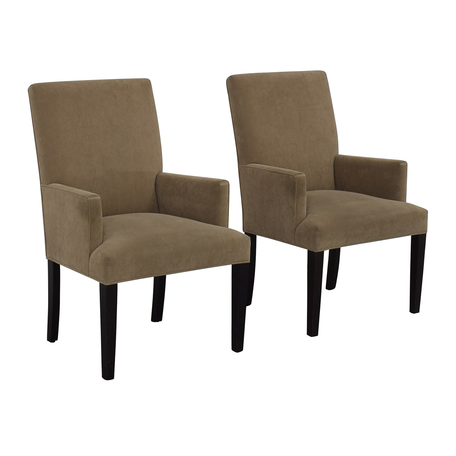 Crate & Barrel Tan Dining Chairs sale