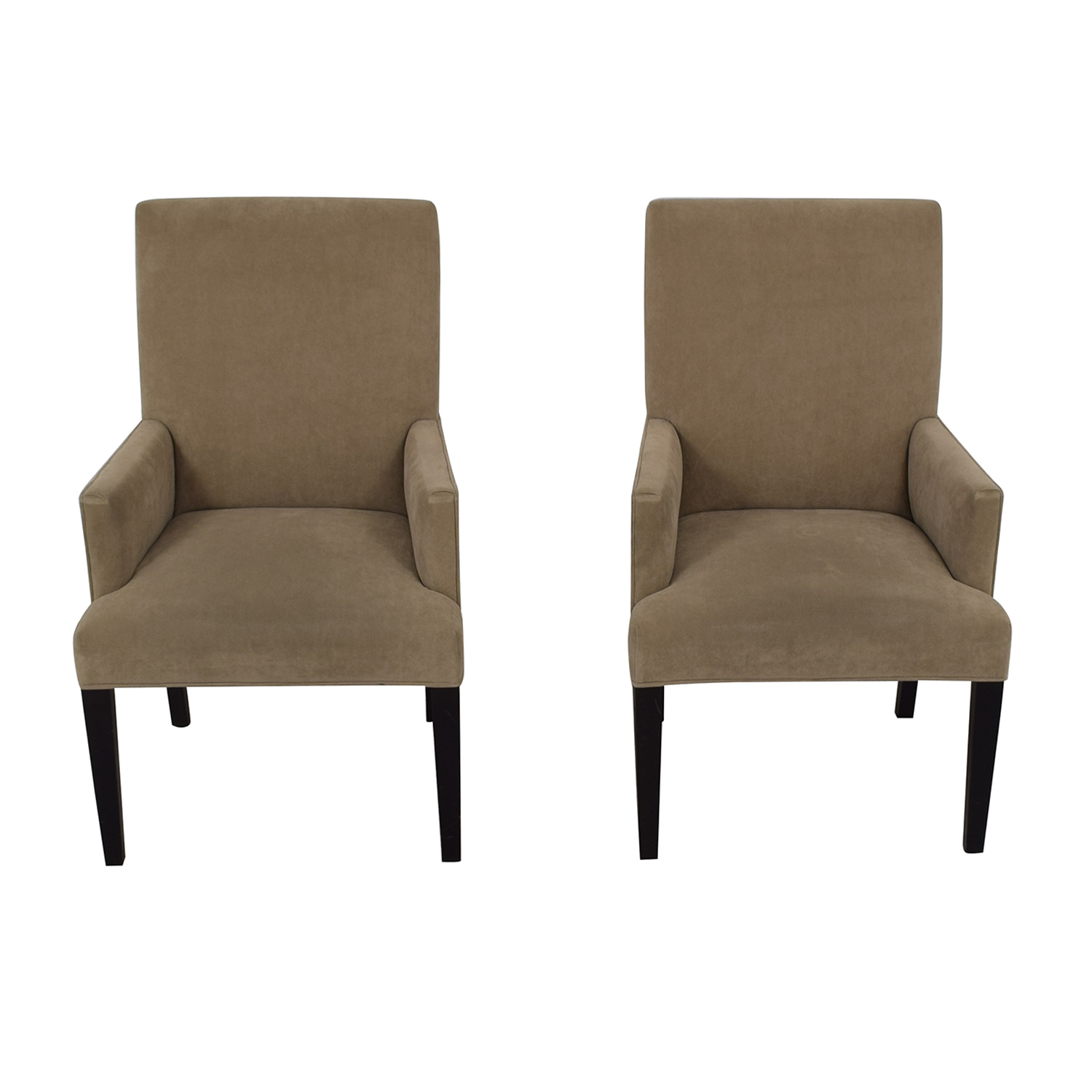 Crate & Barrel Crate & Barrel Tan Dining Chairs second hand