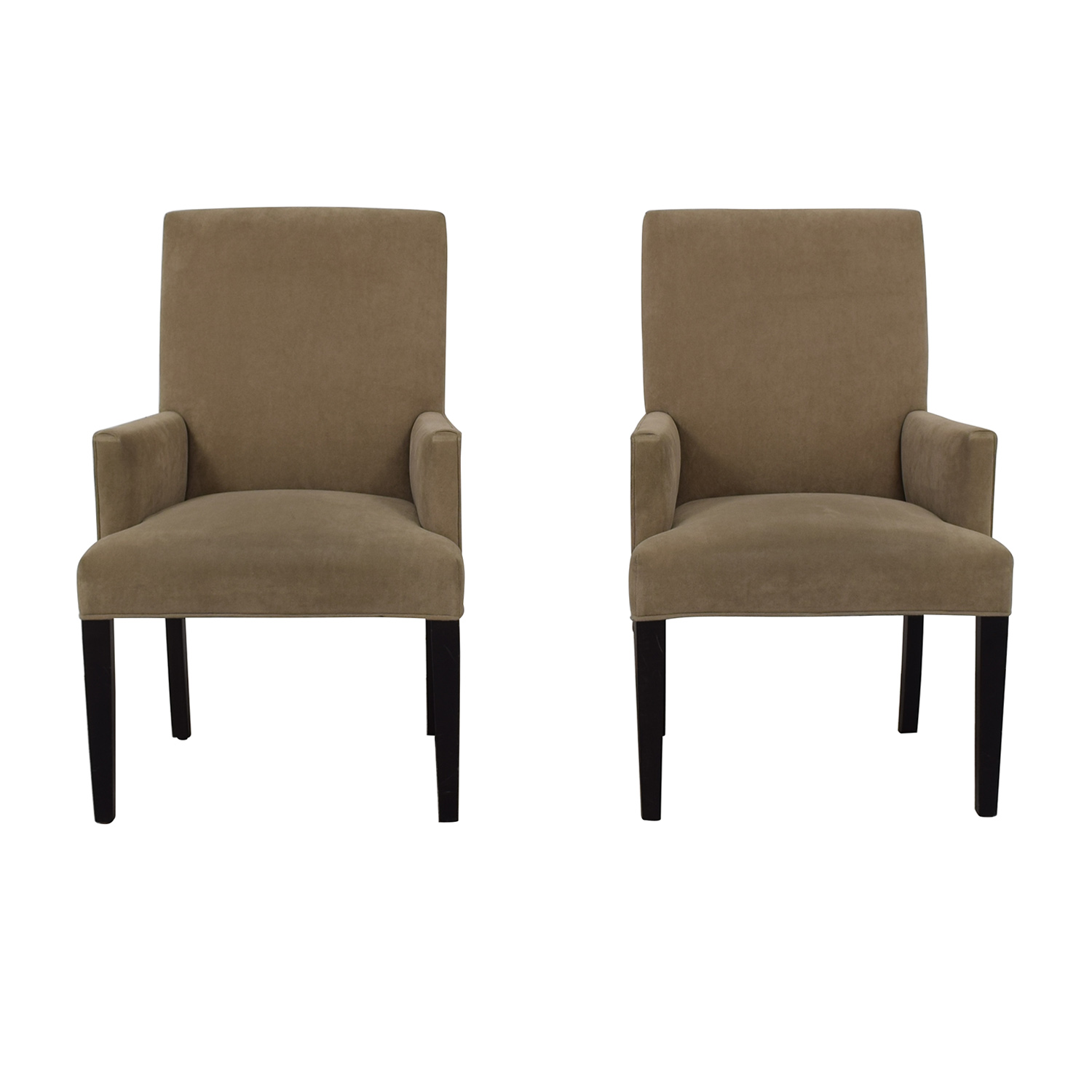 Crate & Barrel Crate & Barrel Tan Dining Chairs dimensions