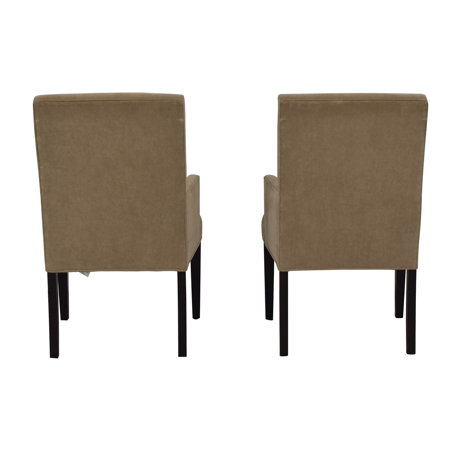 Crate & Barrel Tan Dining Chairs / Dining Chairs