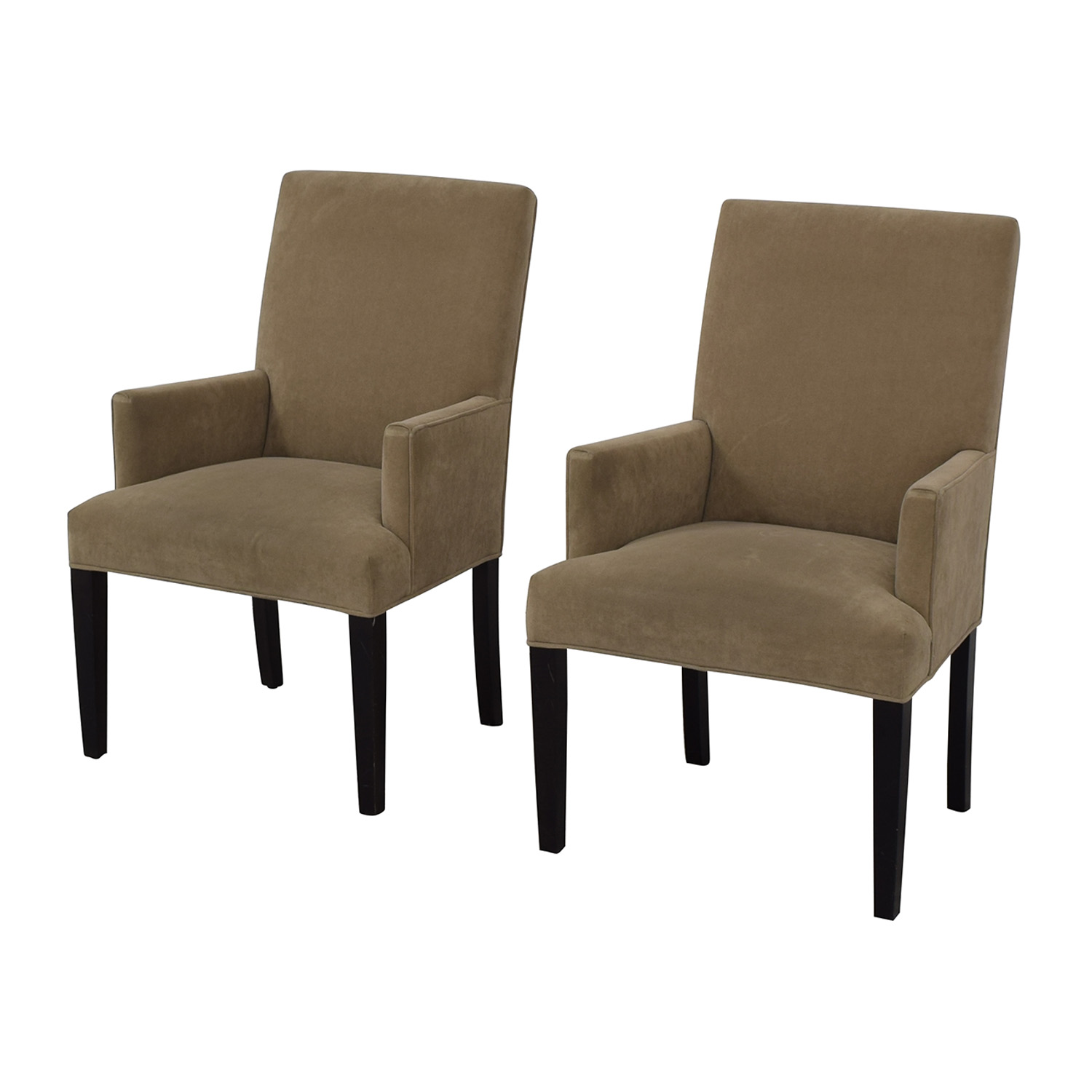 buy Crate & Barrel Tan Dining Chairs Crate & Barrel