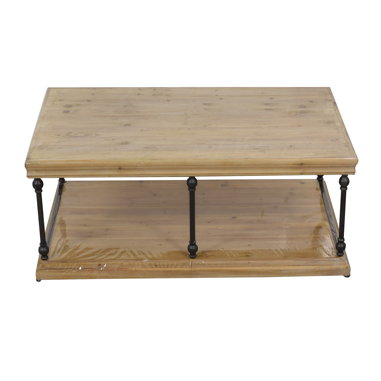 buy Wood & Iron Coffee Table  Tables
