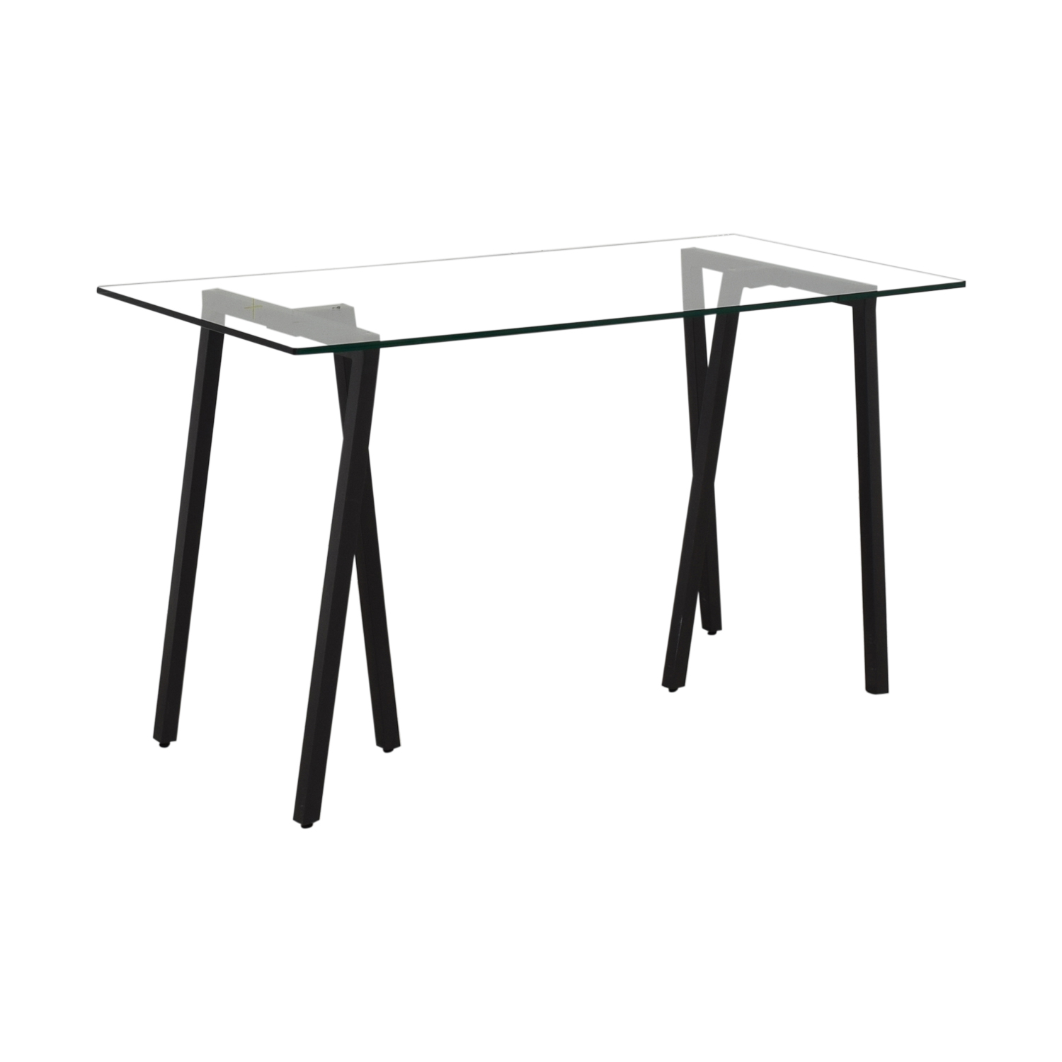 West Elm West Elm Glass Desk used