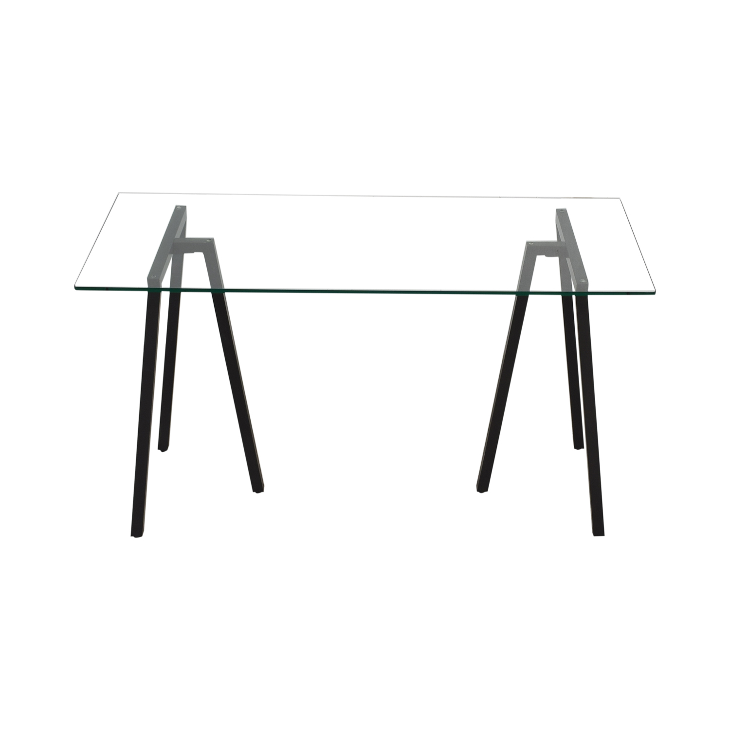 West Elm West Elm Glass Desk Grey