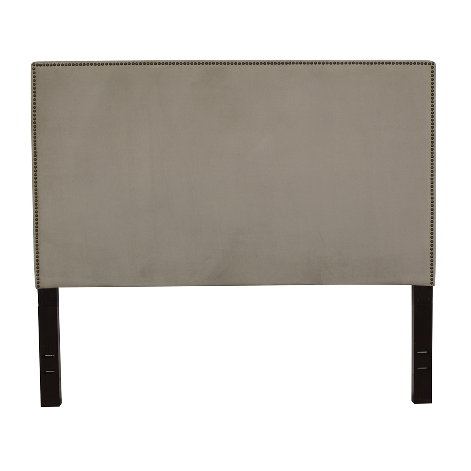 shop West Elm Tall Nailhead Upholstered Headboard West Elm