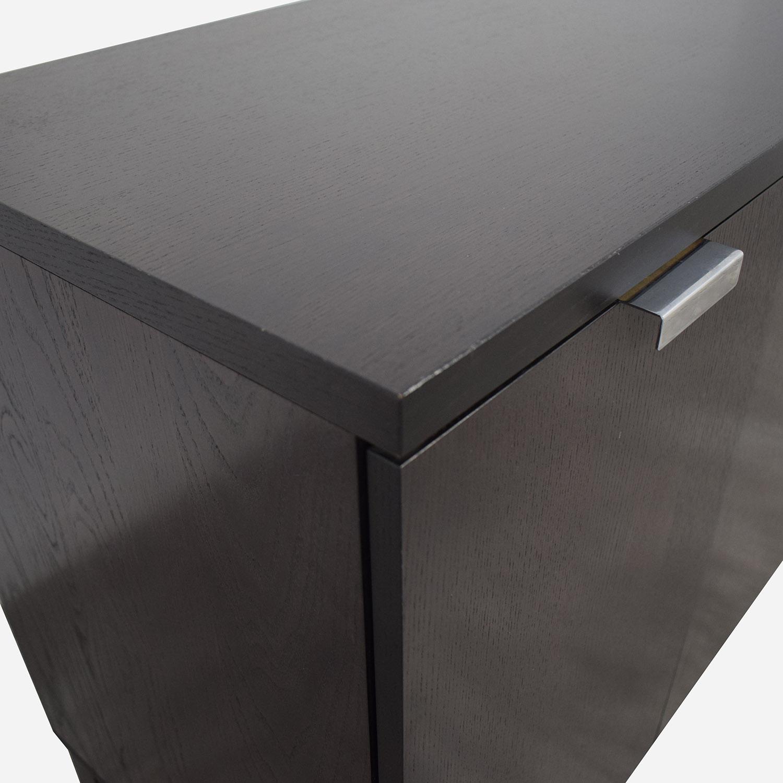 Crate & Barrel Crate & Barrel Espresso Wood Buffet Sideboard nyc