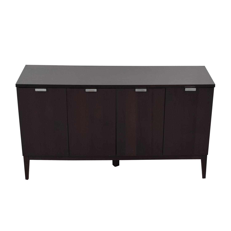Crate & Barrel Crate & Barrel Espresso Wood Buffet Sideboard dimensions
