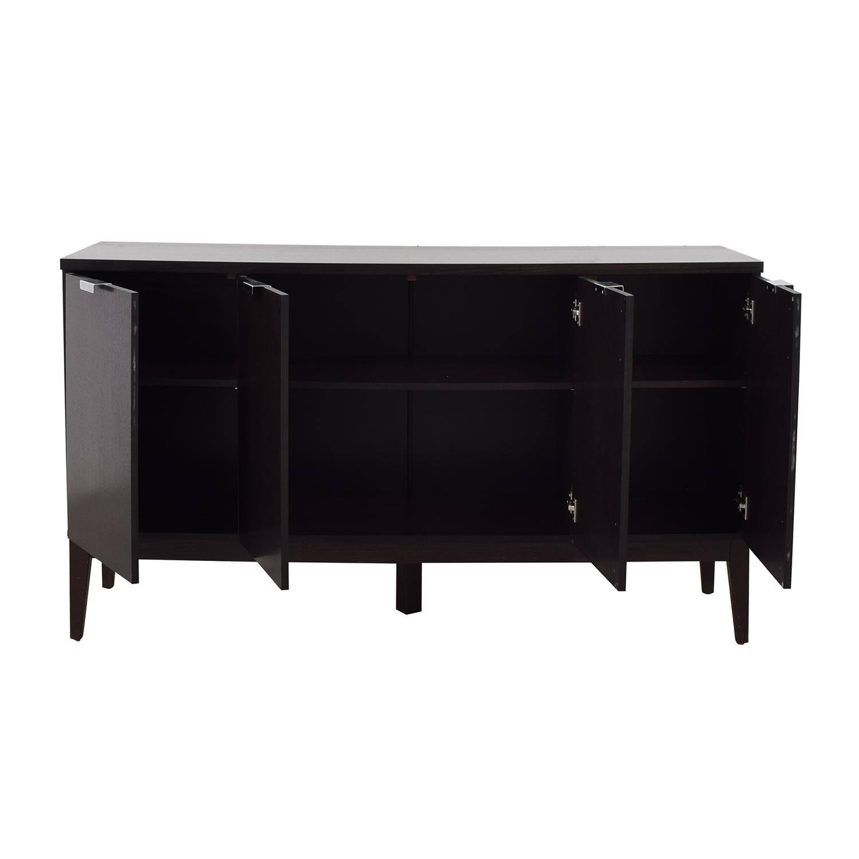 Crate & Barrel Crate & Barrel Espresso Wood Buffet Sideboard on sale