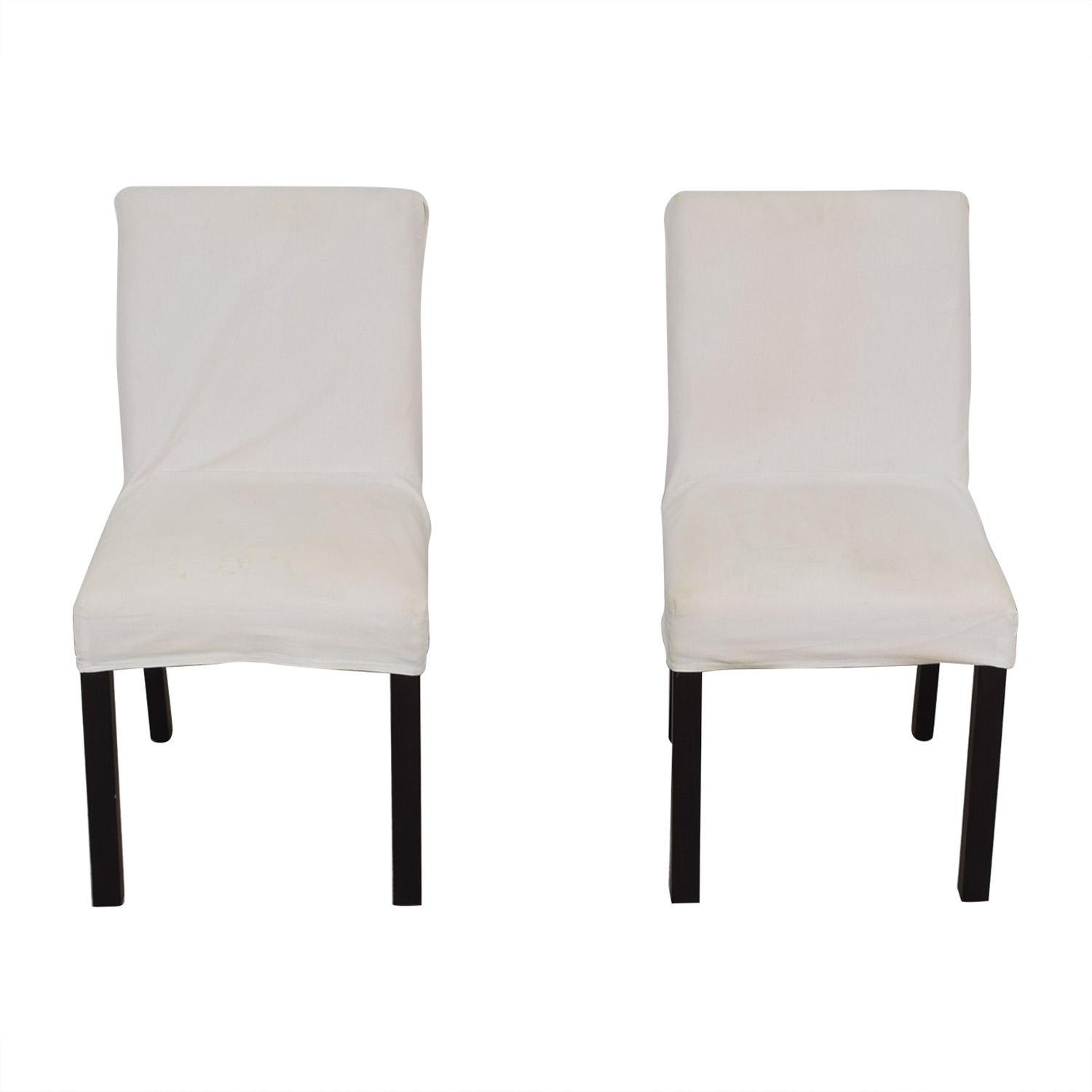 shop Crate & Barrel White Chairs Crate & Barrel Chairs