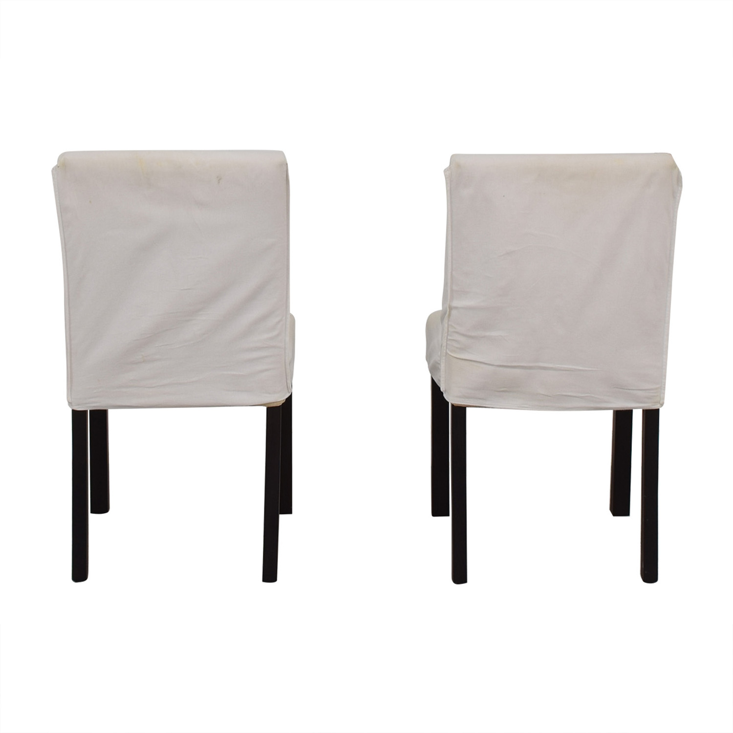 Crate & Barrel White Chairs sale