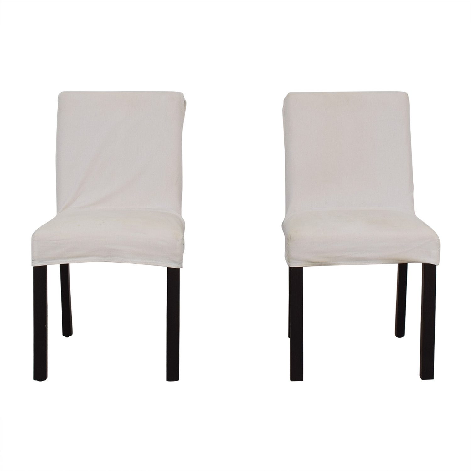 Crate & Barrel Crate & Barrel White Chairs on sale