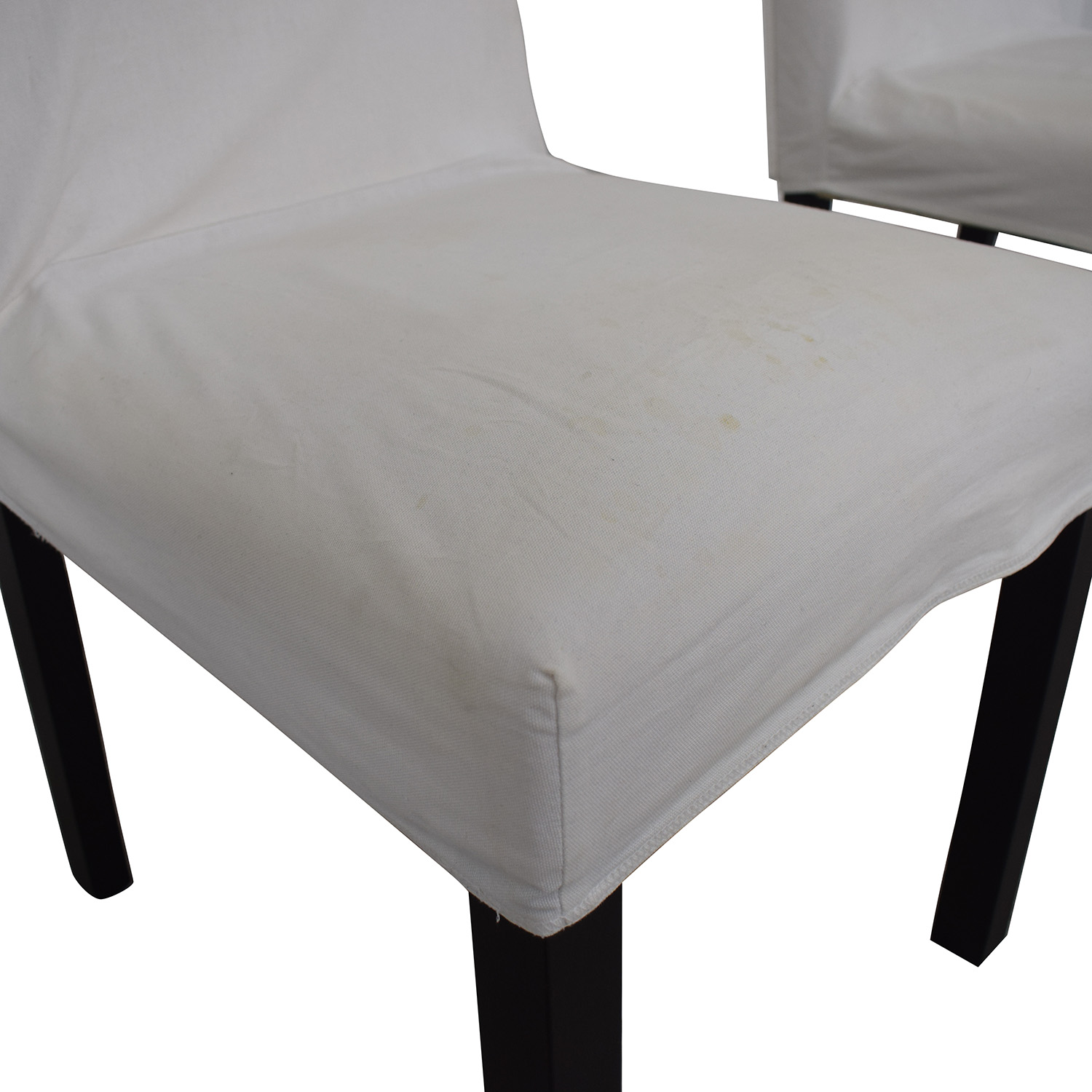 Crate & Barrel White Chairs / Dining Chairs