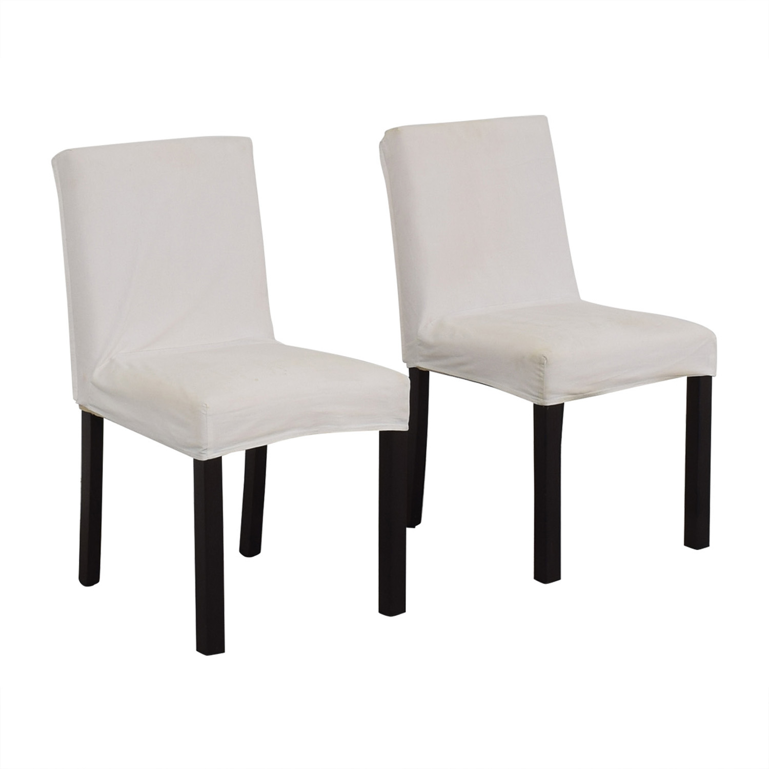 Crate & Barrel Crate & Barrel White Chairs used